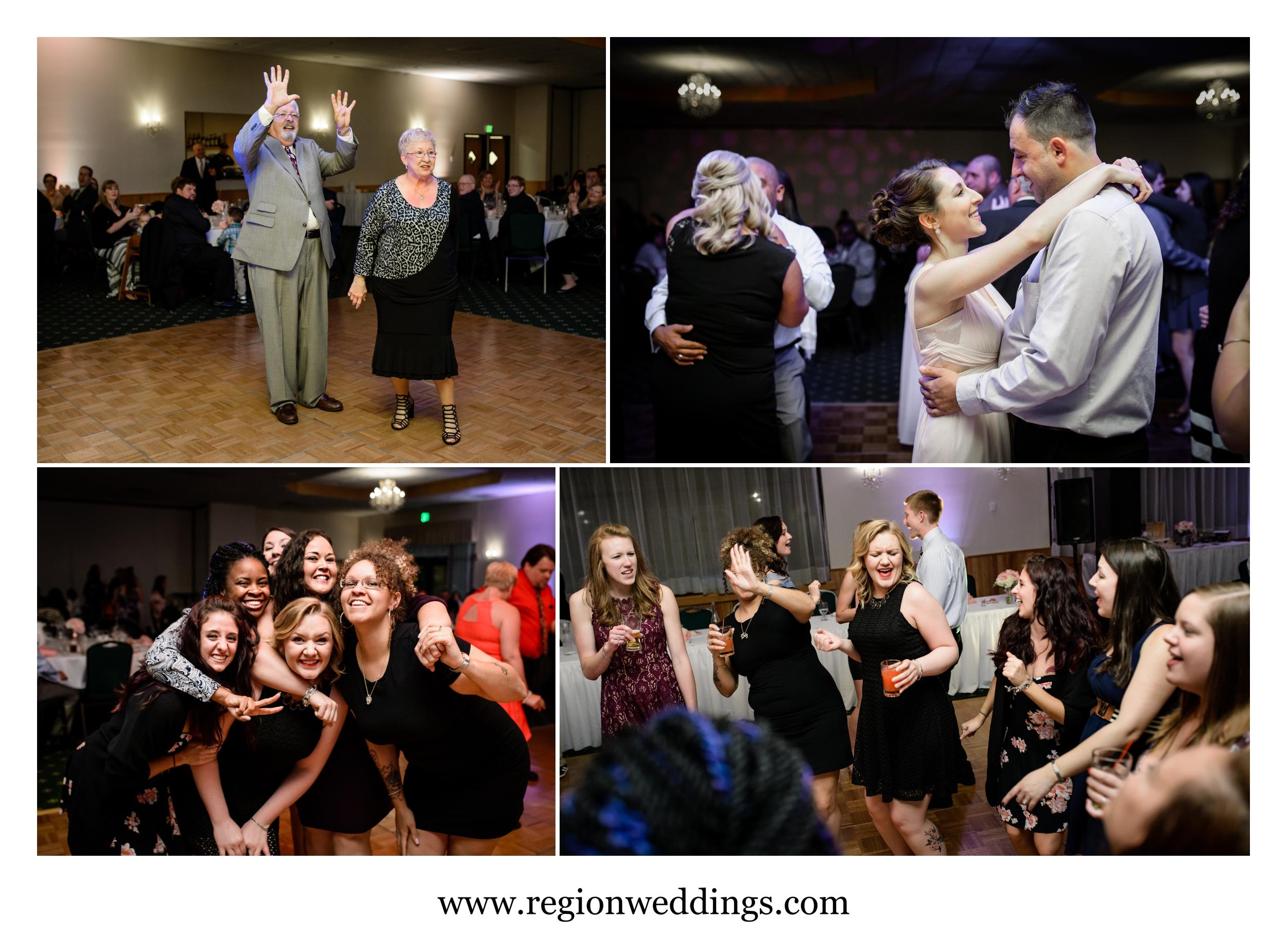 Wedding reception fun at The Patrician.