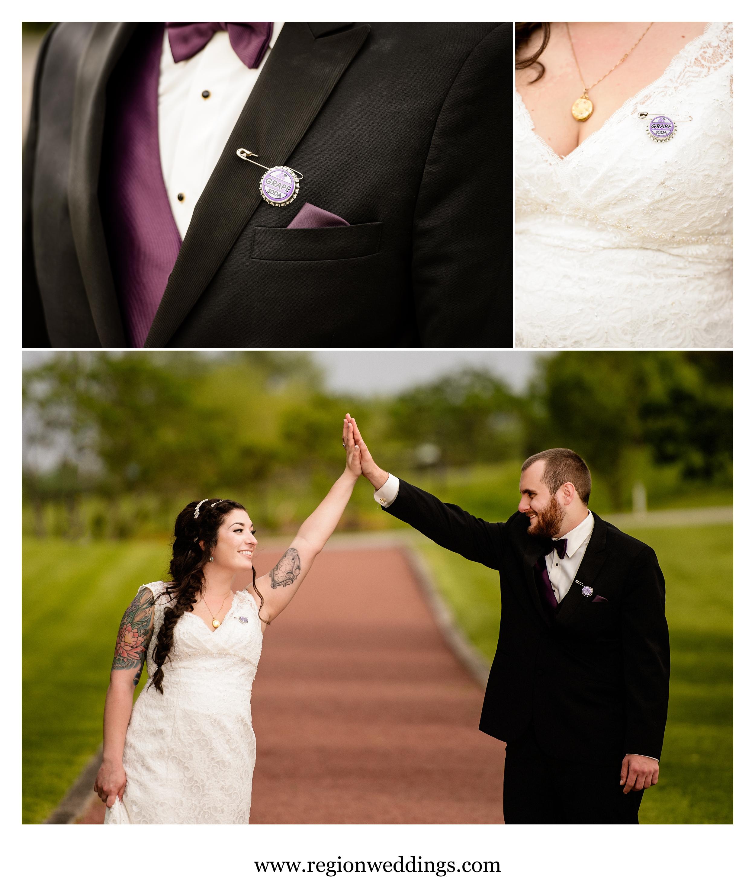 Grape soda and high fives = true love.