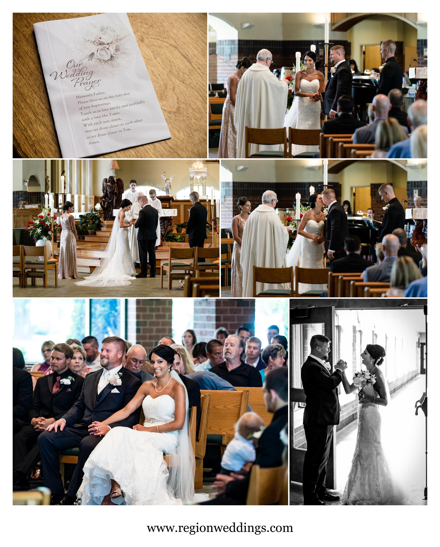 Summer wedding at St. Michael's Parish.