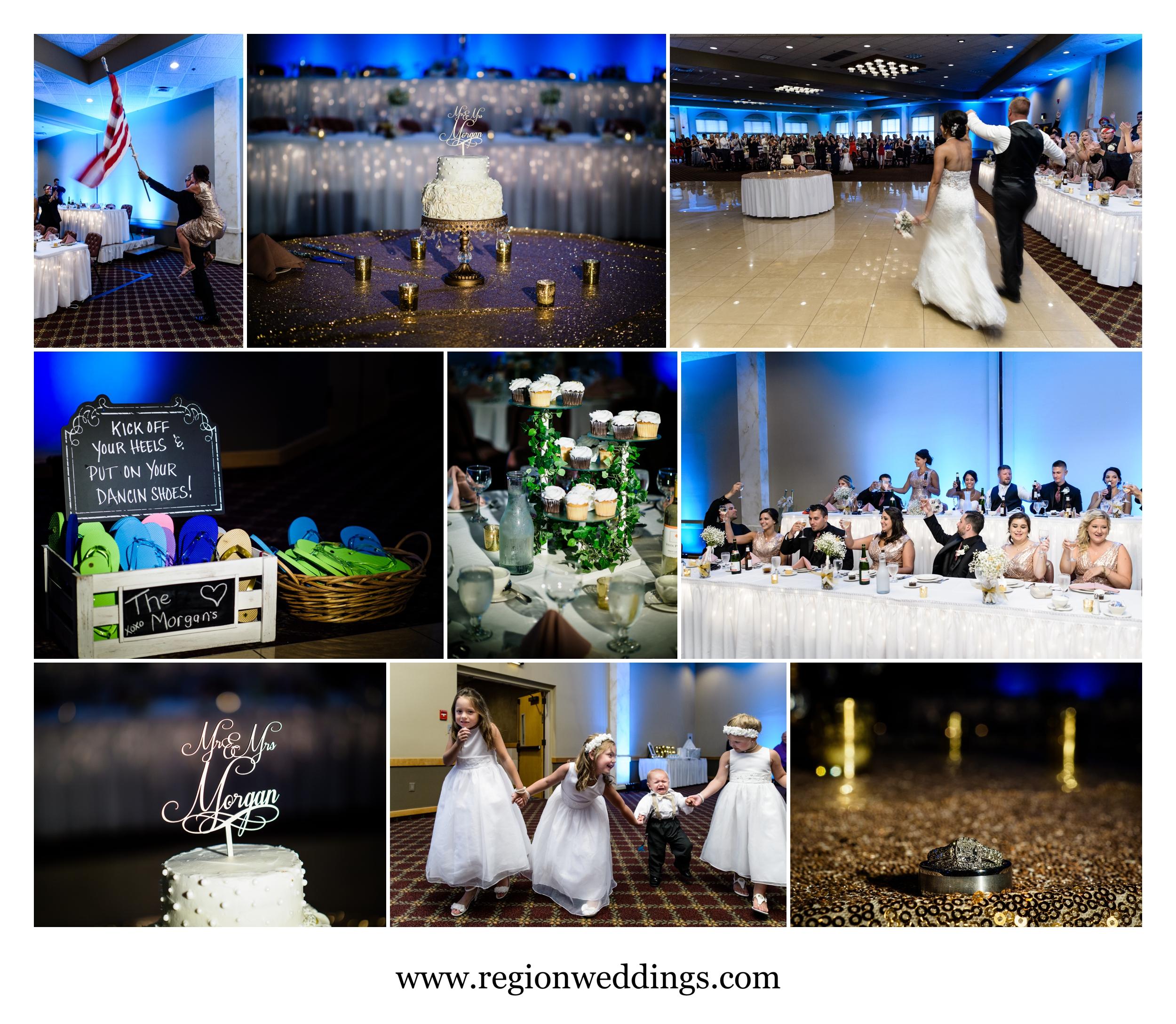 June wedding reception at Villa Cesare in Schererville, Indiana.