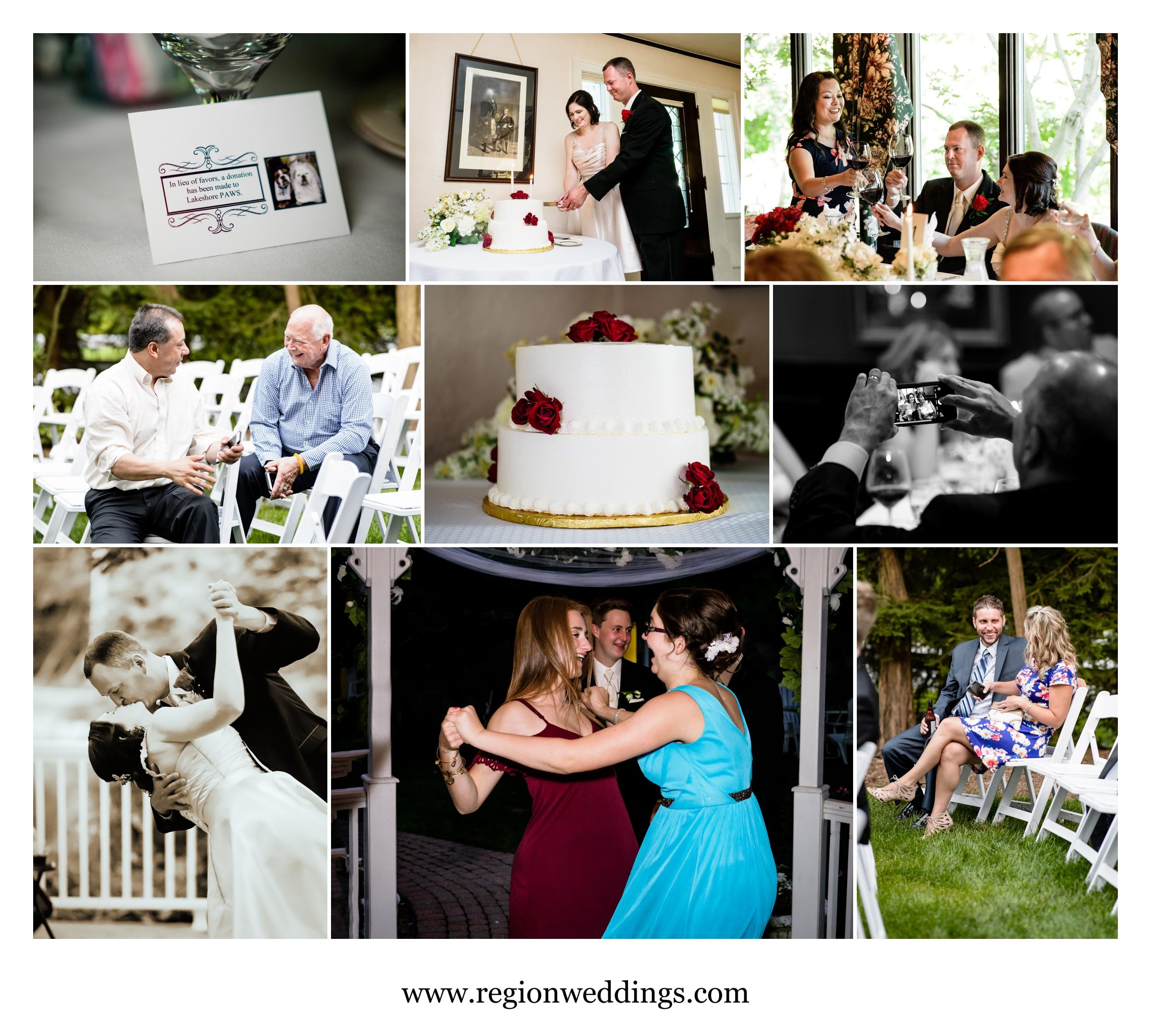 Wedding reception at The Inn At Aberdeen in Valparaiso, Indiana.