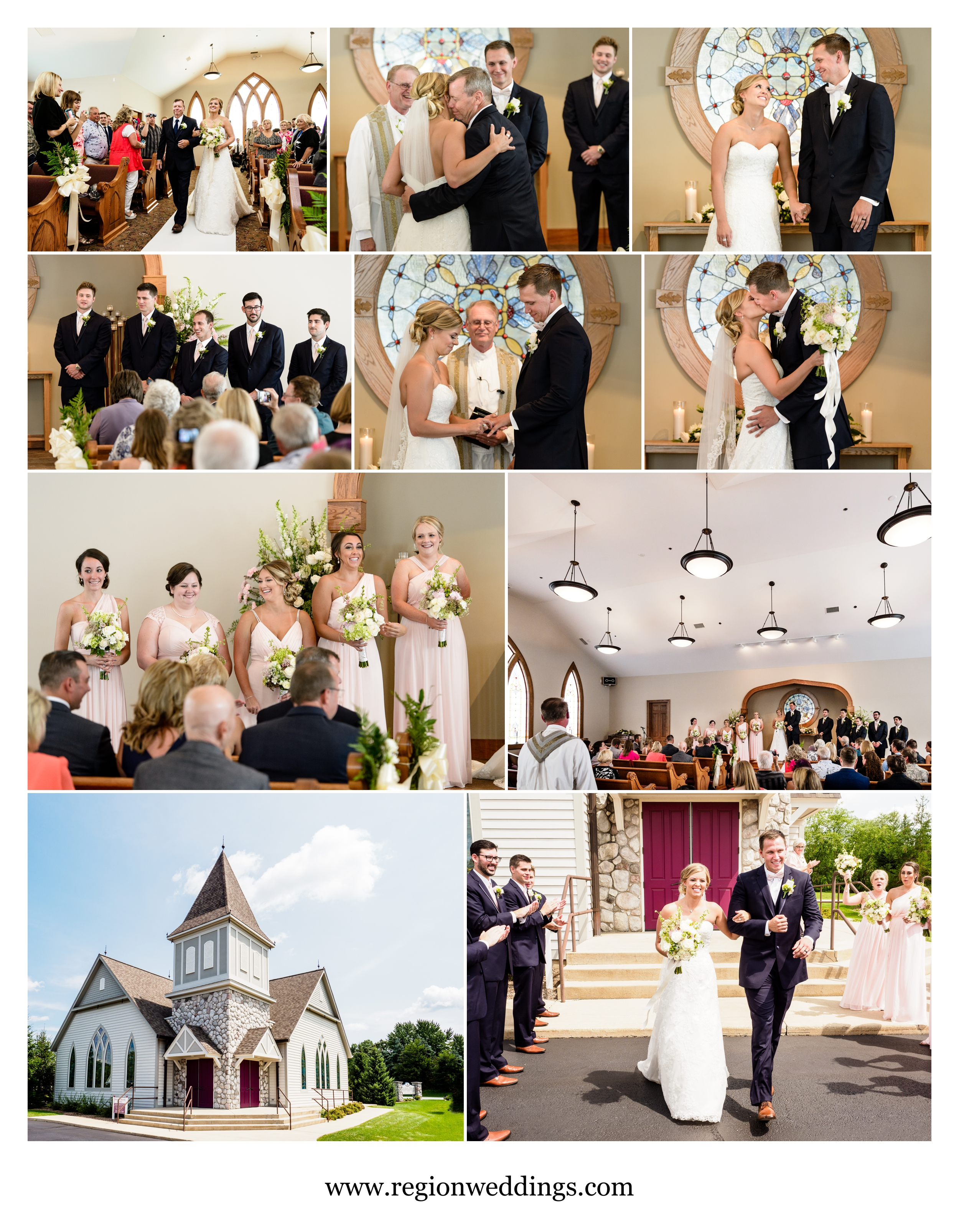 Wedding ceremony at the Wedding Chapel at Aberdeen Manor.