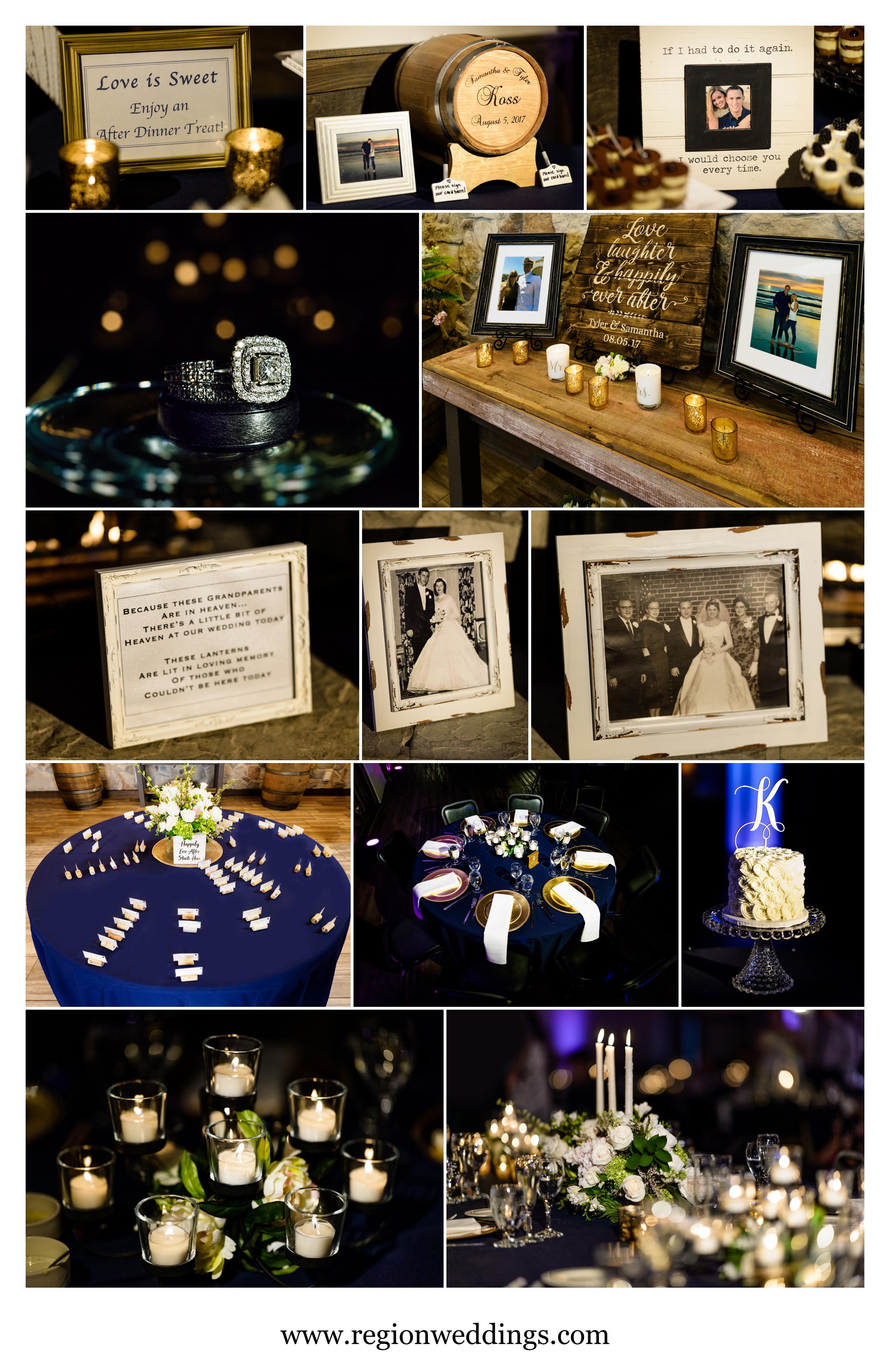 Wedding decorations at The Market in Valparaiso, Indiana.