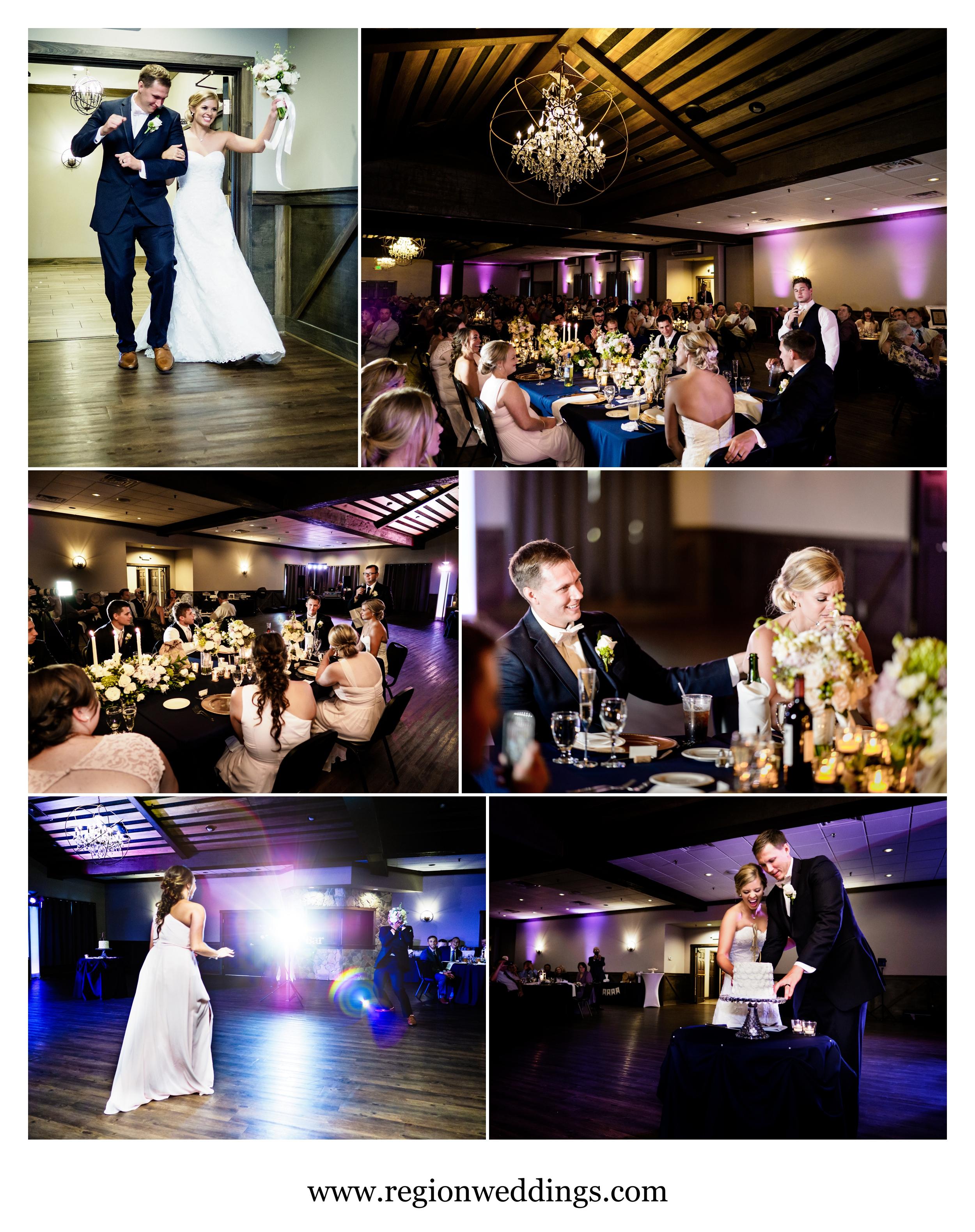 Wedding reception at The Market in Valparaiso, Indiana.