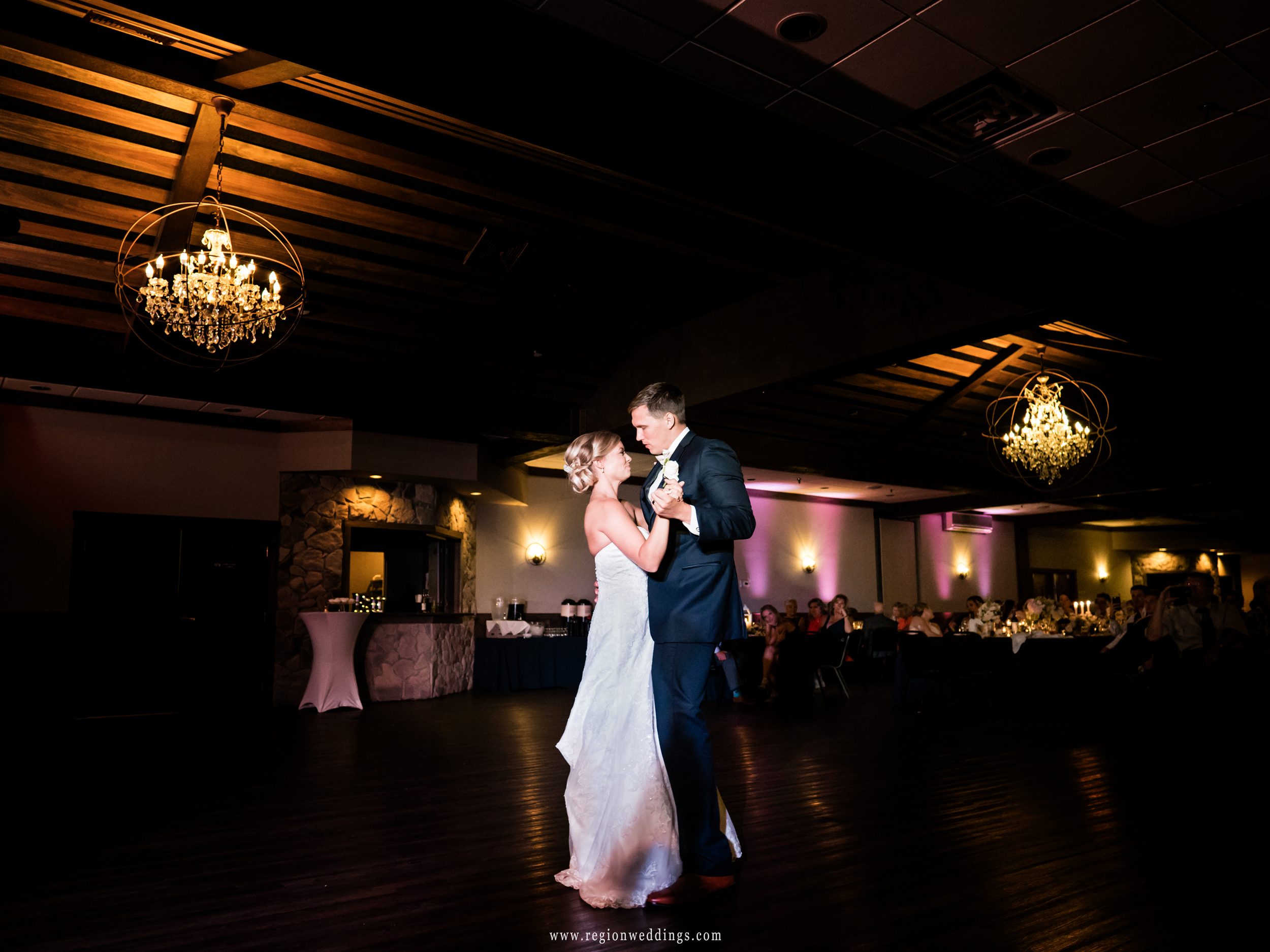 First dance for the bride and groom at The Market.