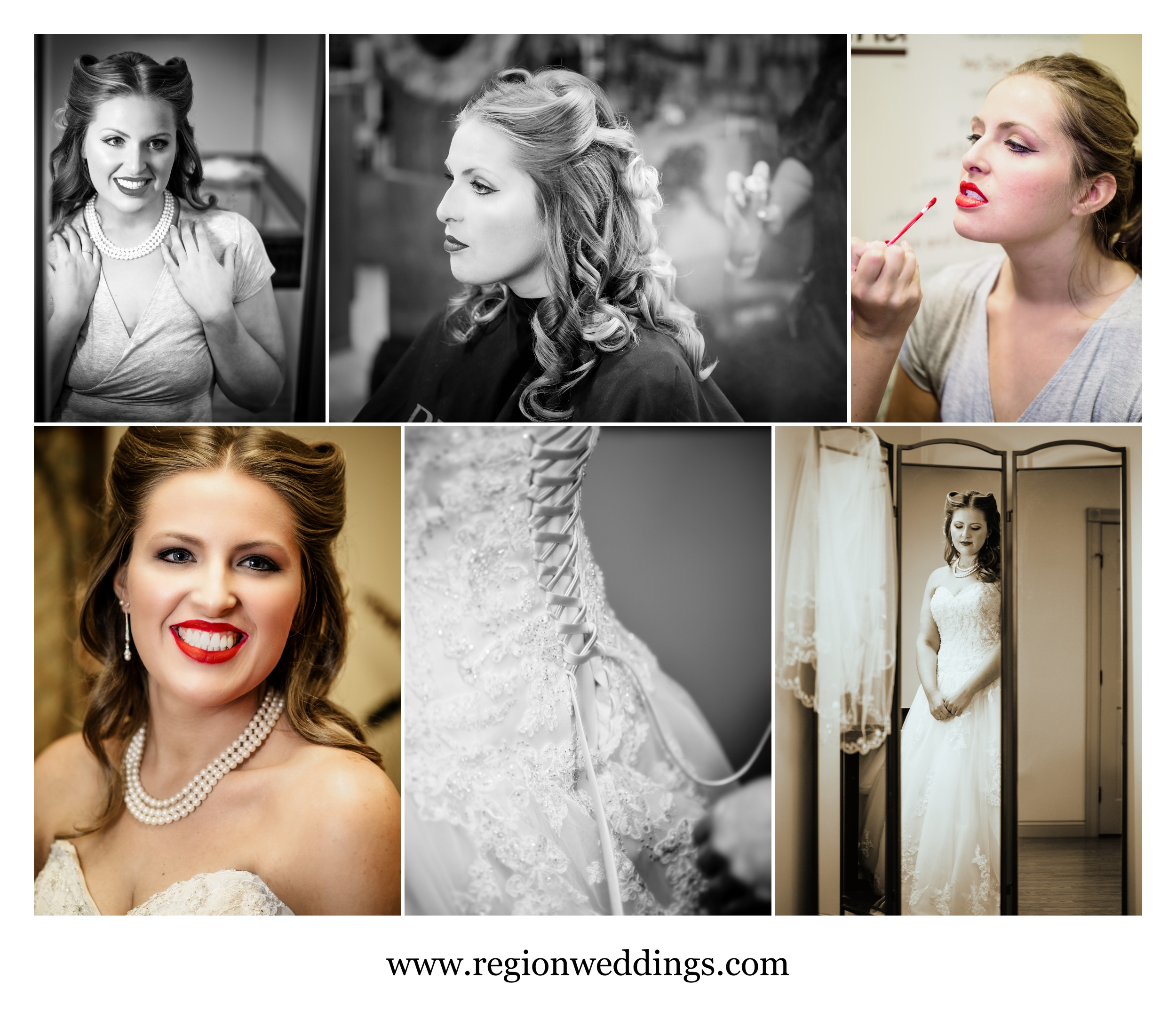 Bridal prep at State of Mind Salon in Crown Point, IN