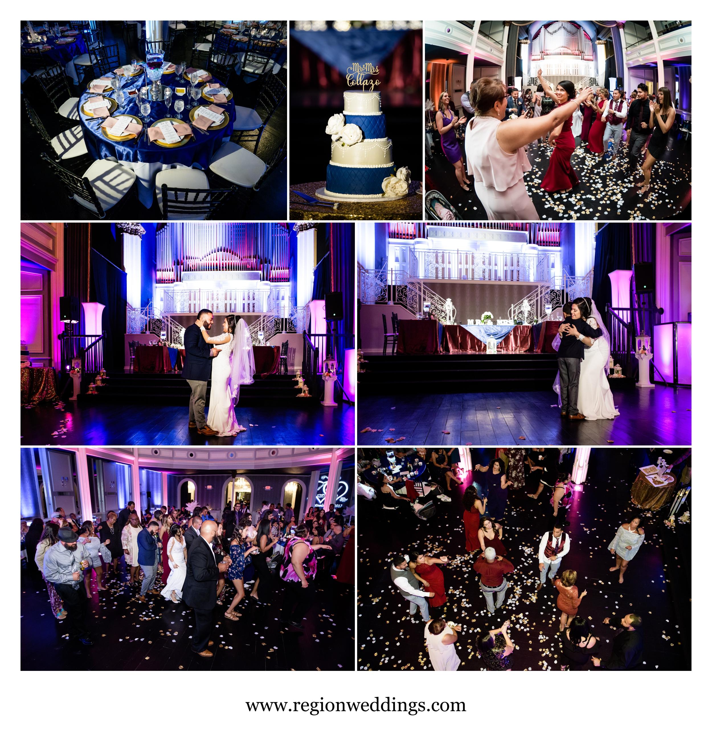 Wedding reception photos at The Uptown Center.