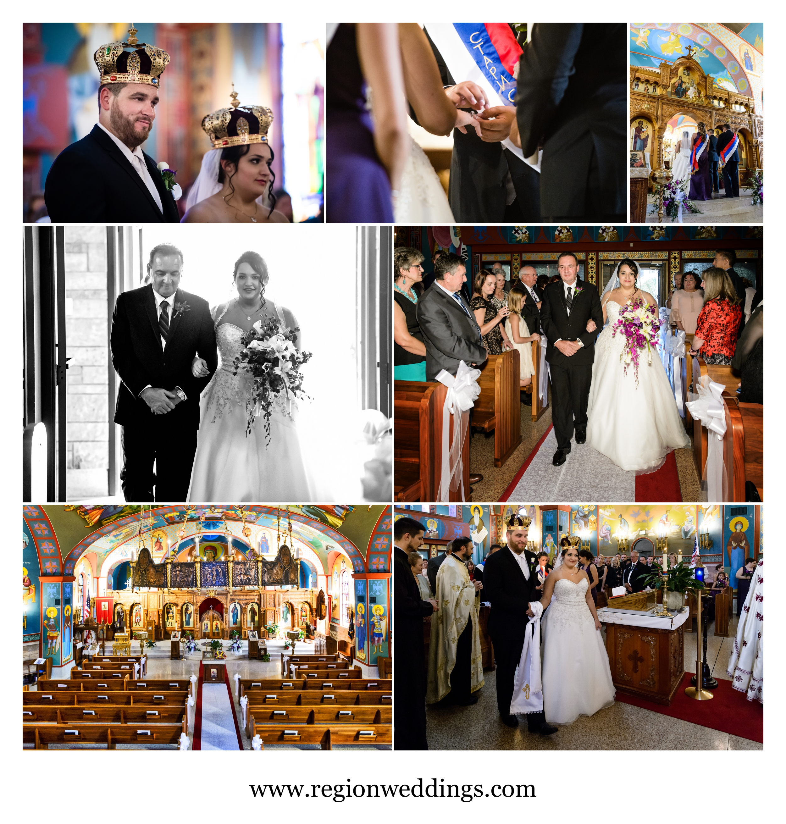 Wedding ceremony at Saint George's Church.