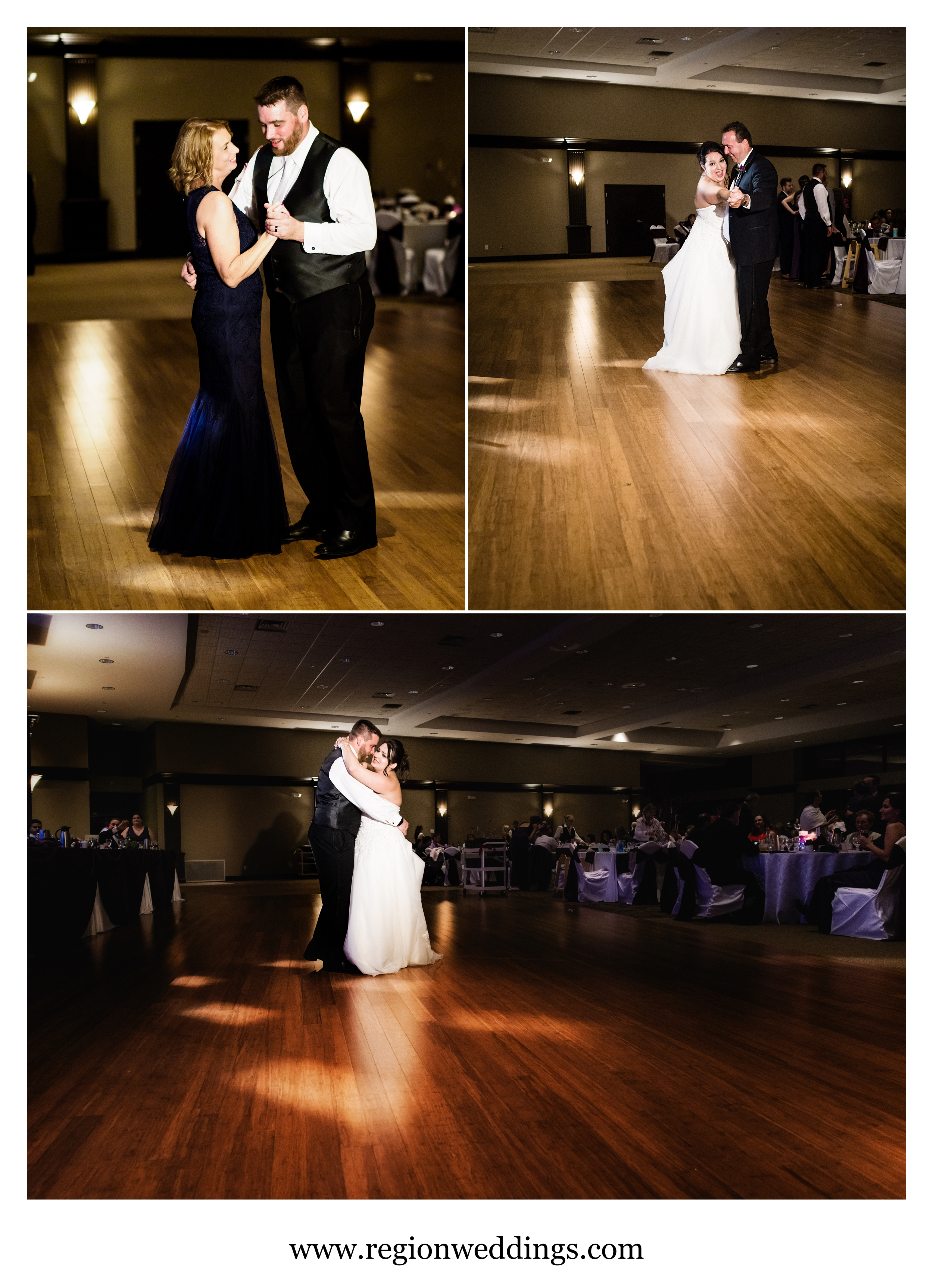 First dances at Halls of St. George in Schererville, Indiana.