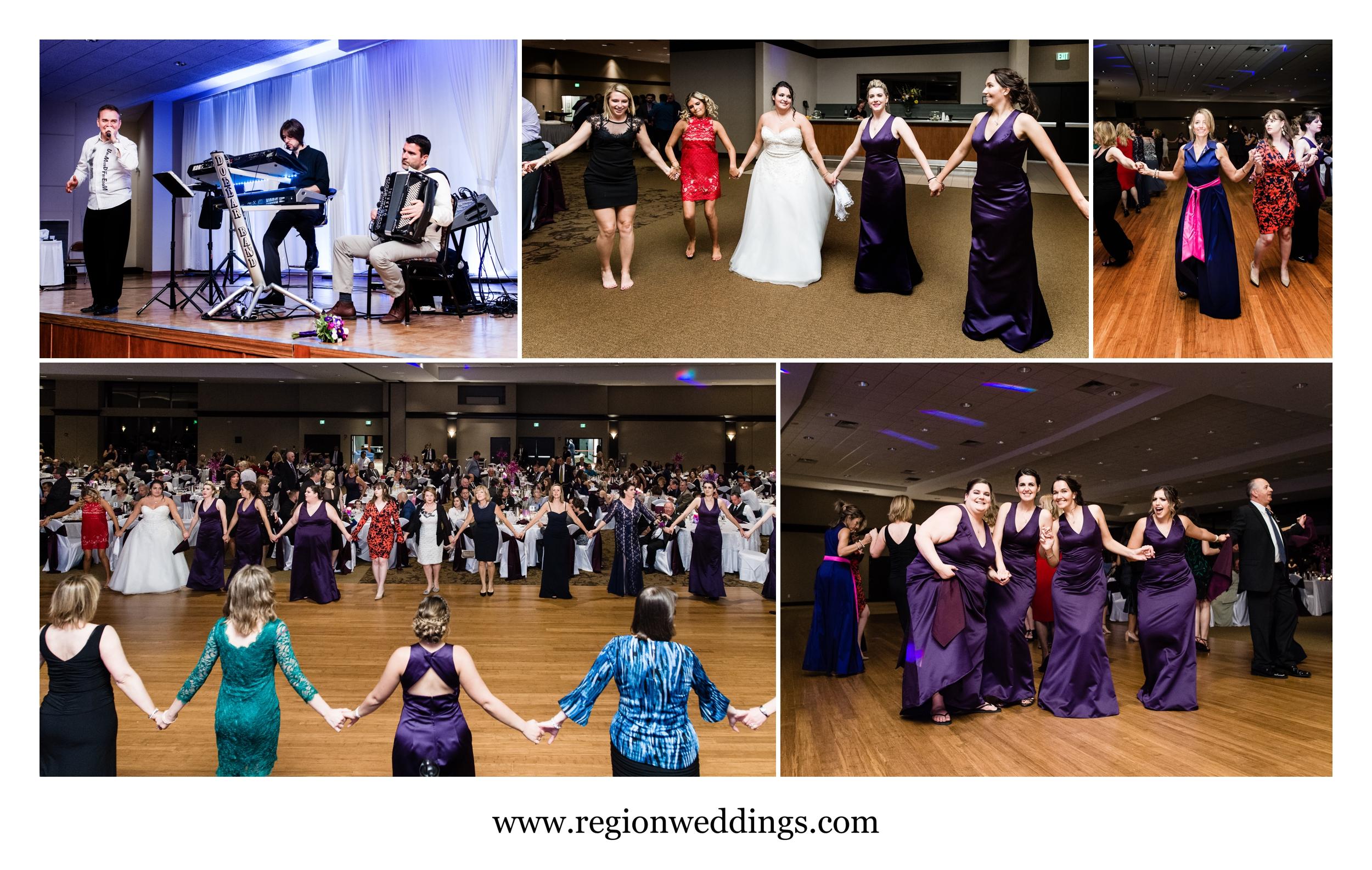 Serbian wedding reception celebration at Halls of St. George.