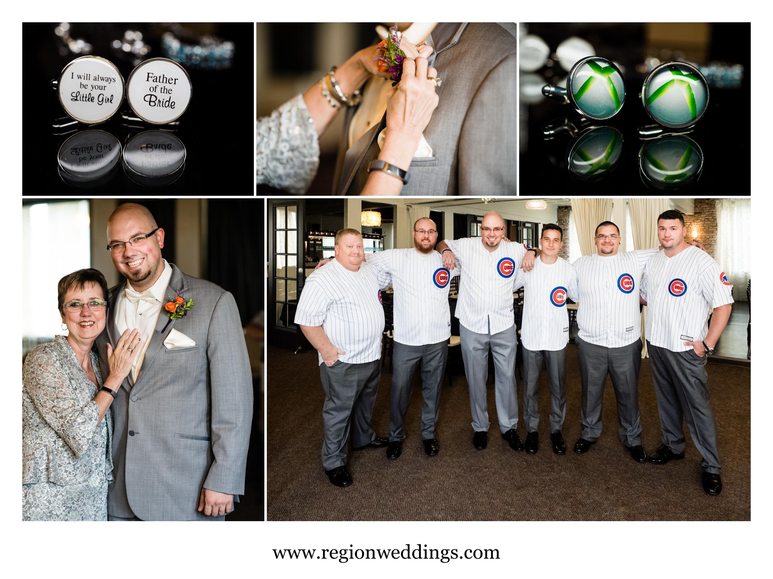 Groomsmen wedding prep at The Allure.