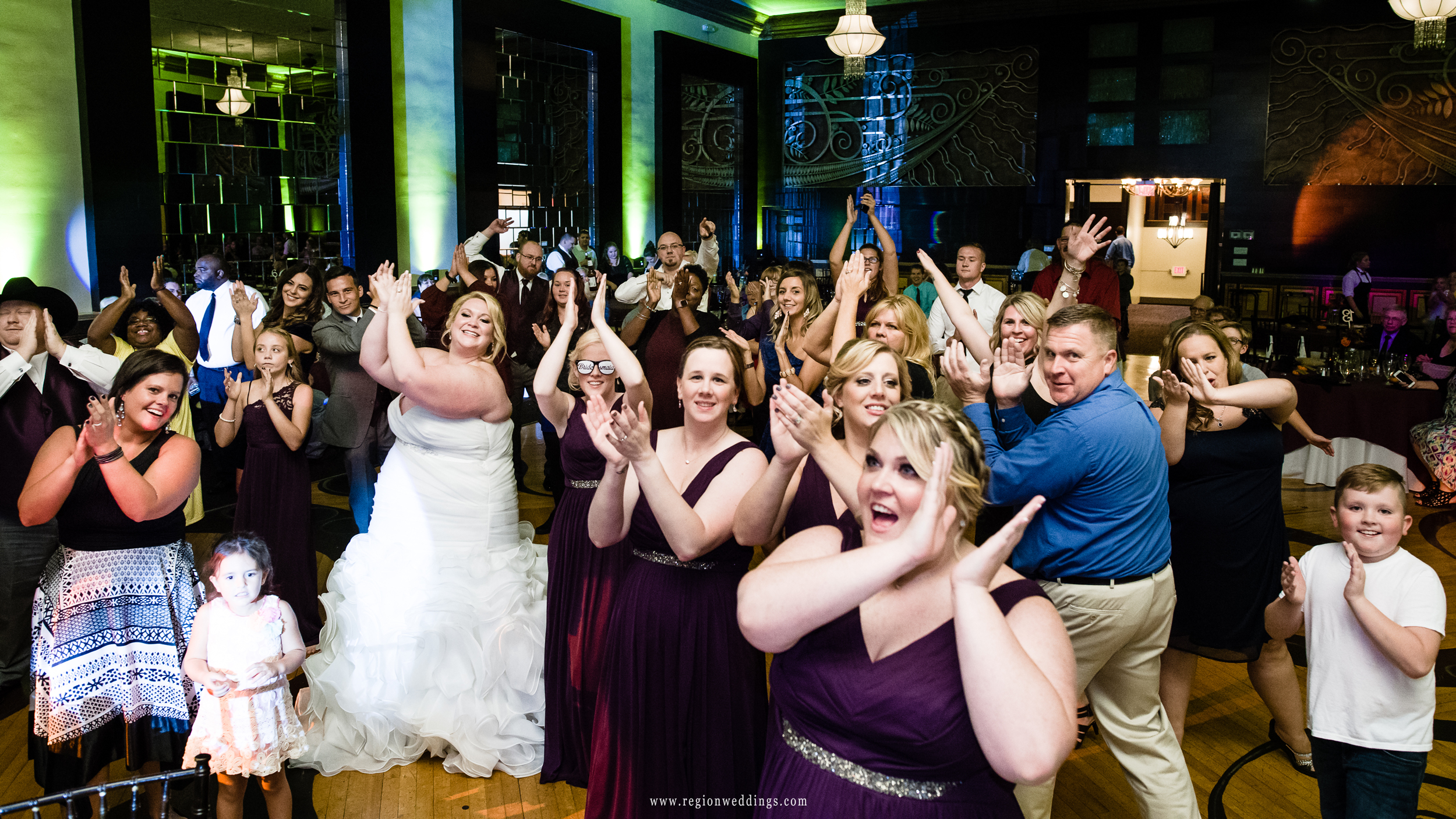 Party time on the dance floor.