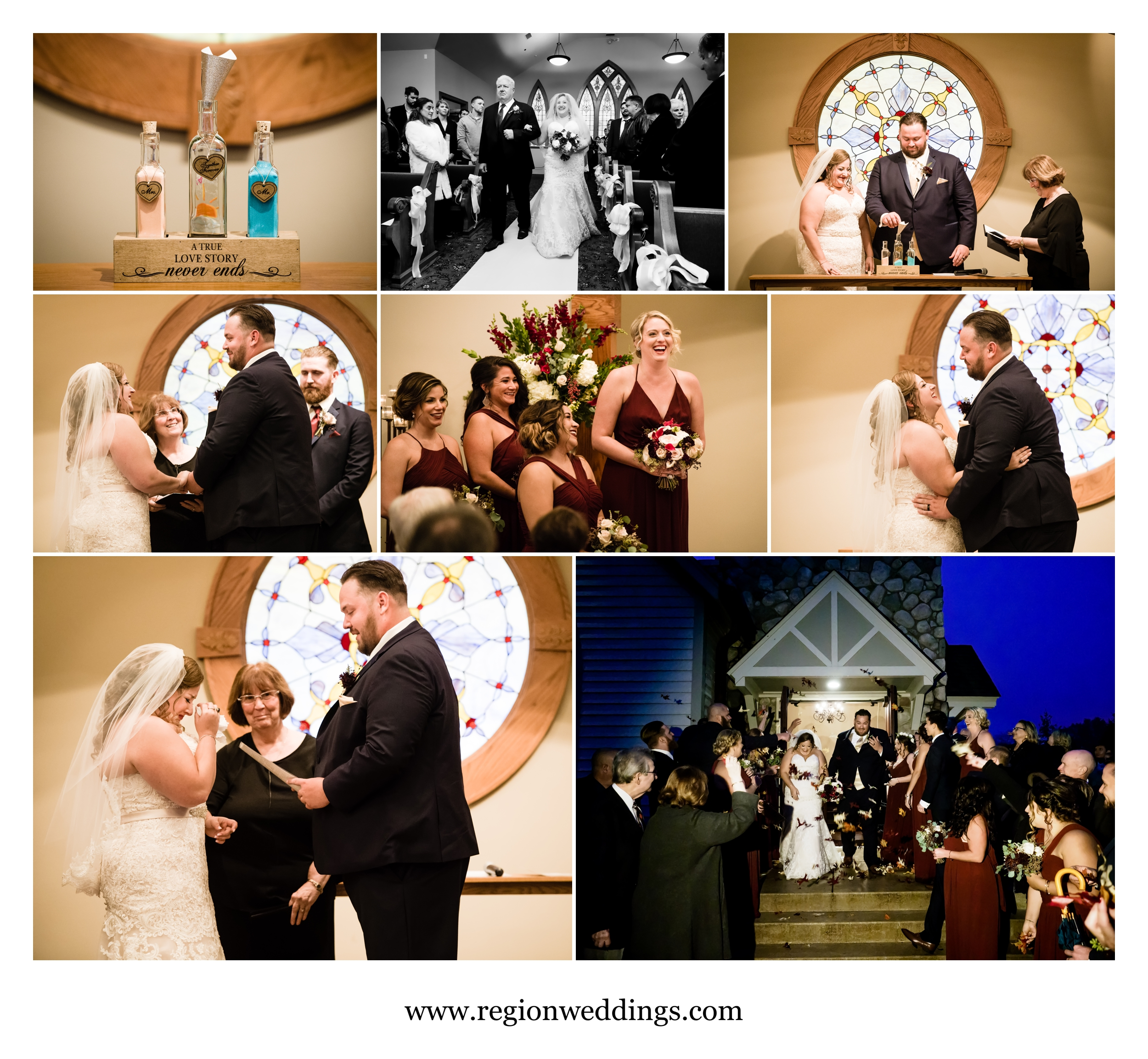 Emotions abound inside Aberdeen Chapel for a Fall wedding ceremony.