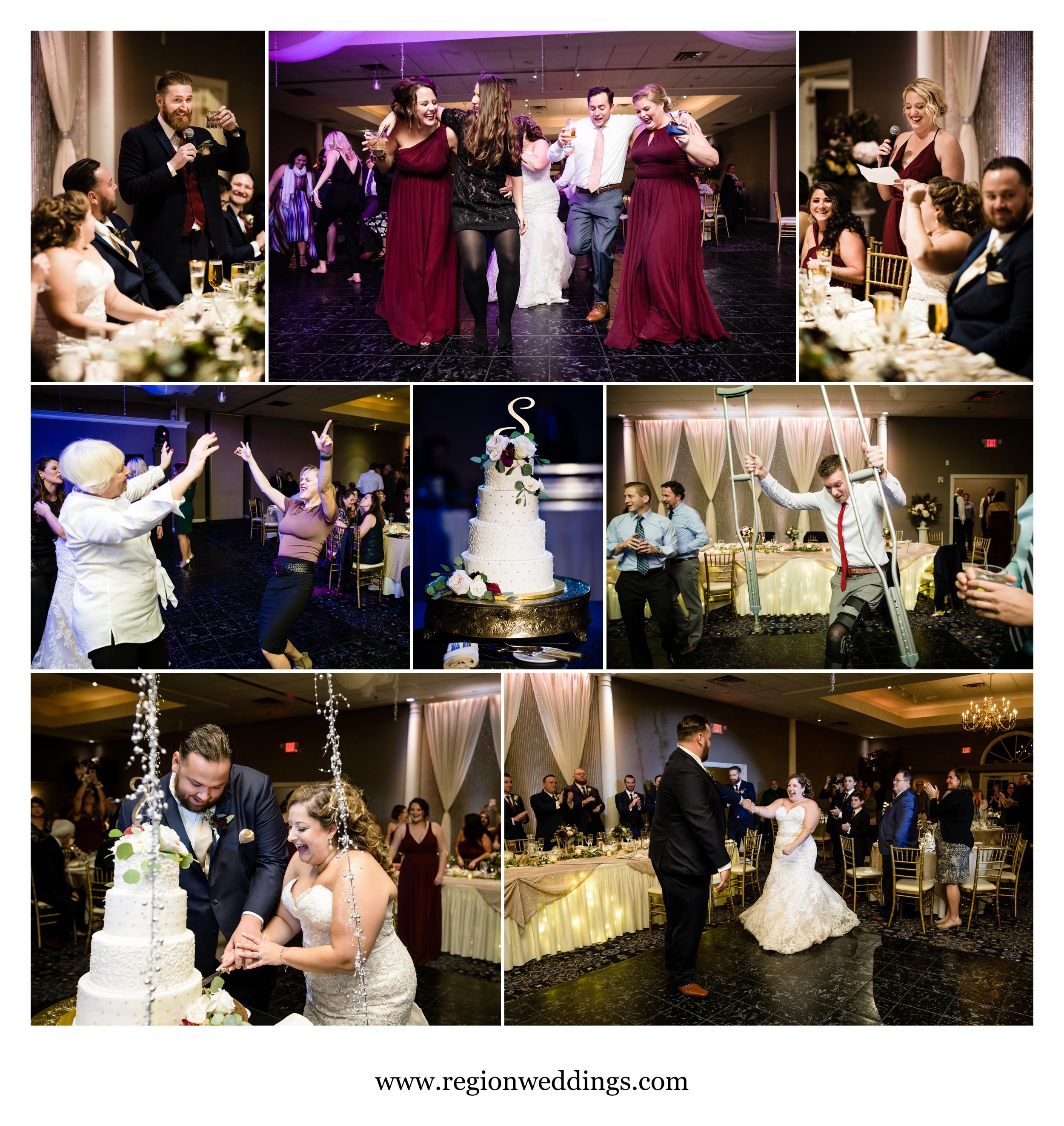 Wedding reception fun at Aberdeen Manor.