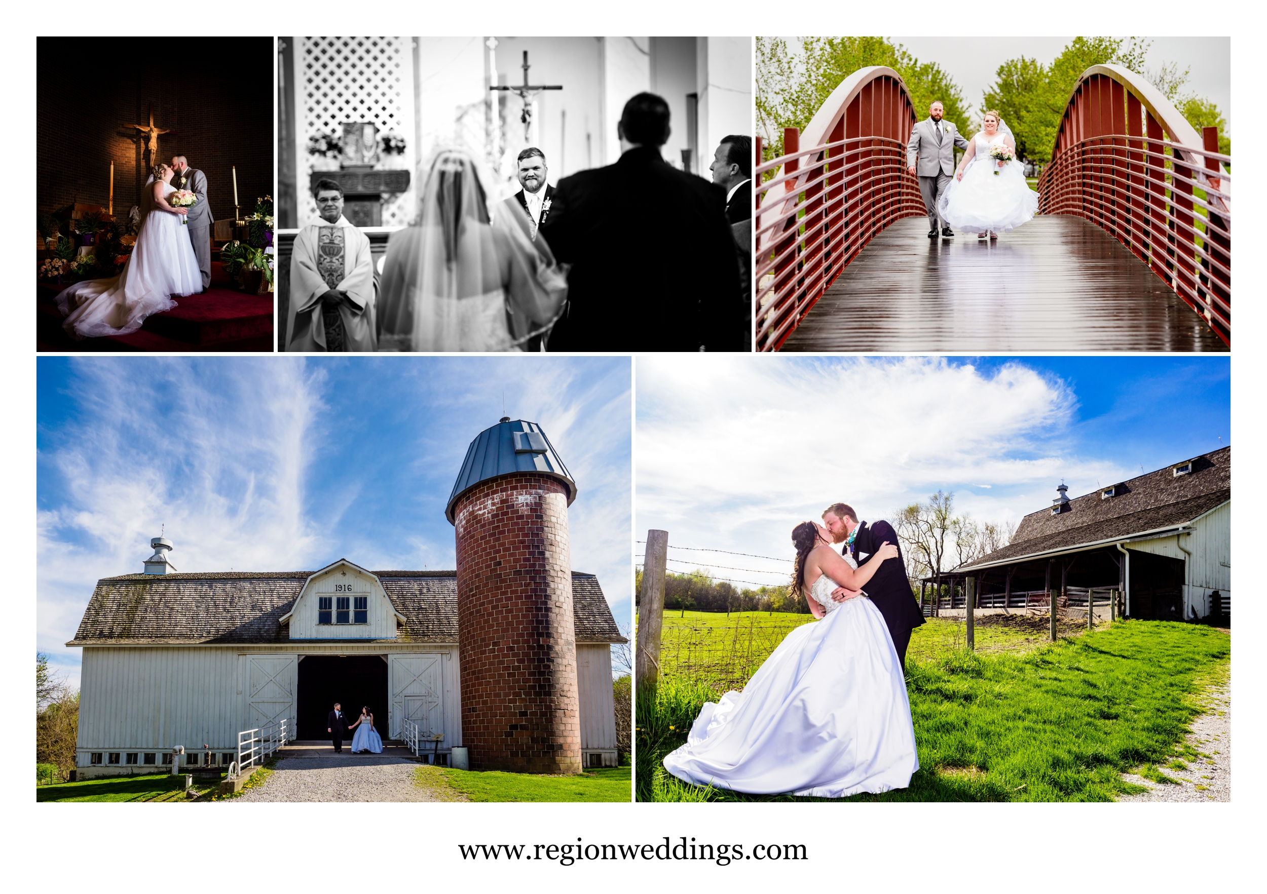 Spring wedding photos in Northwest Indiana.