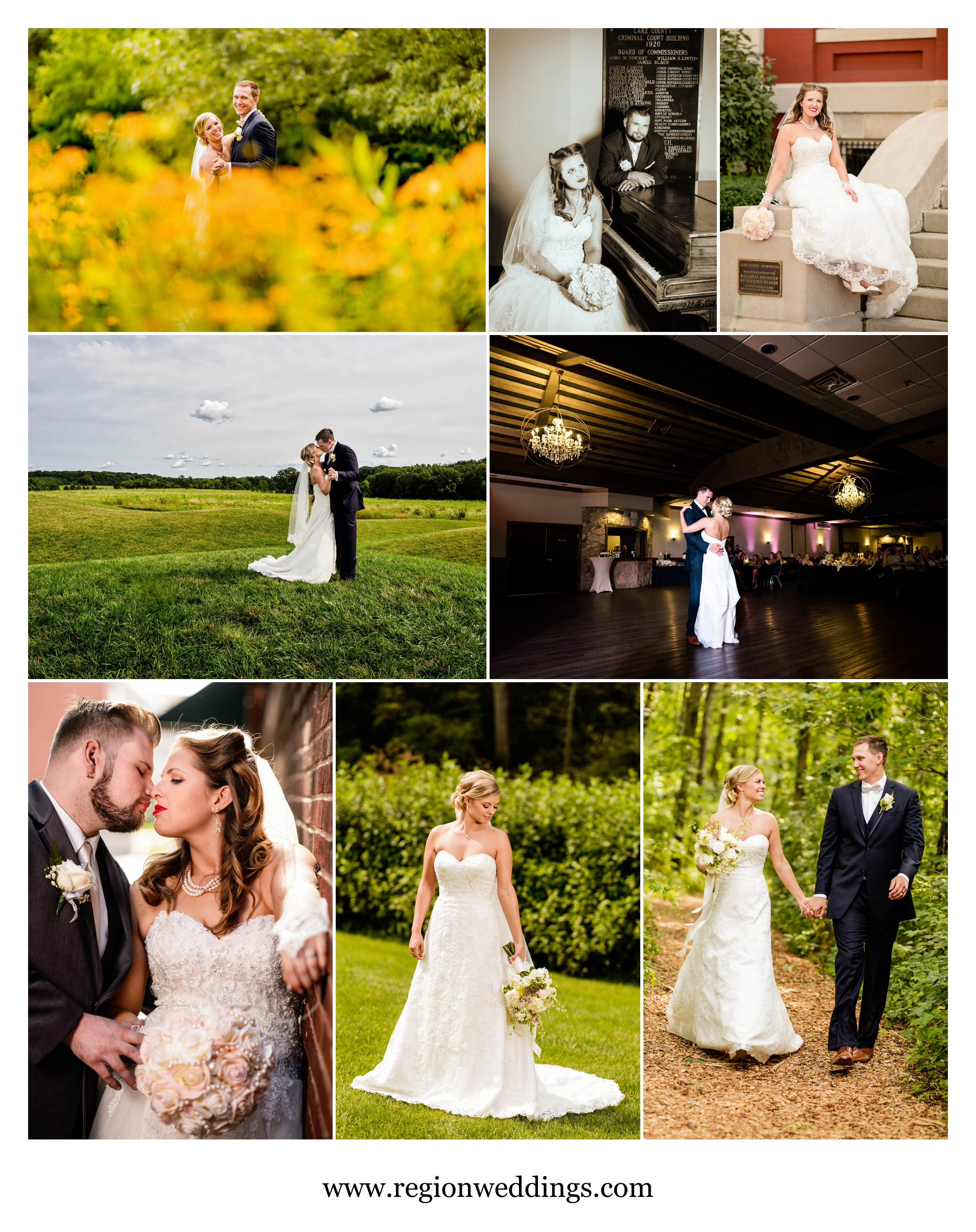 August weddings in Crown Point and Valparaiso.