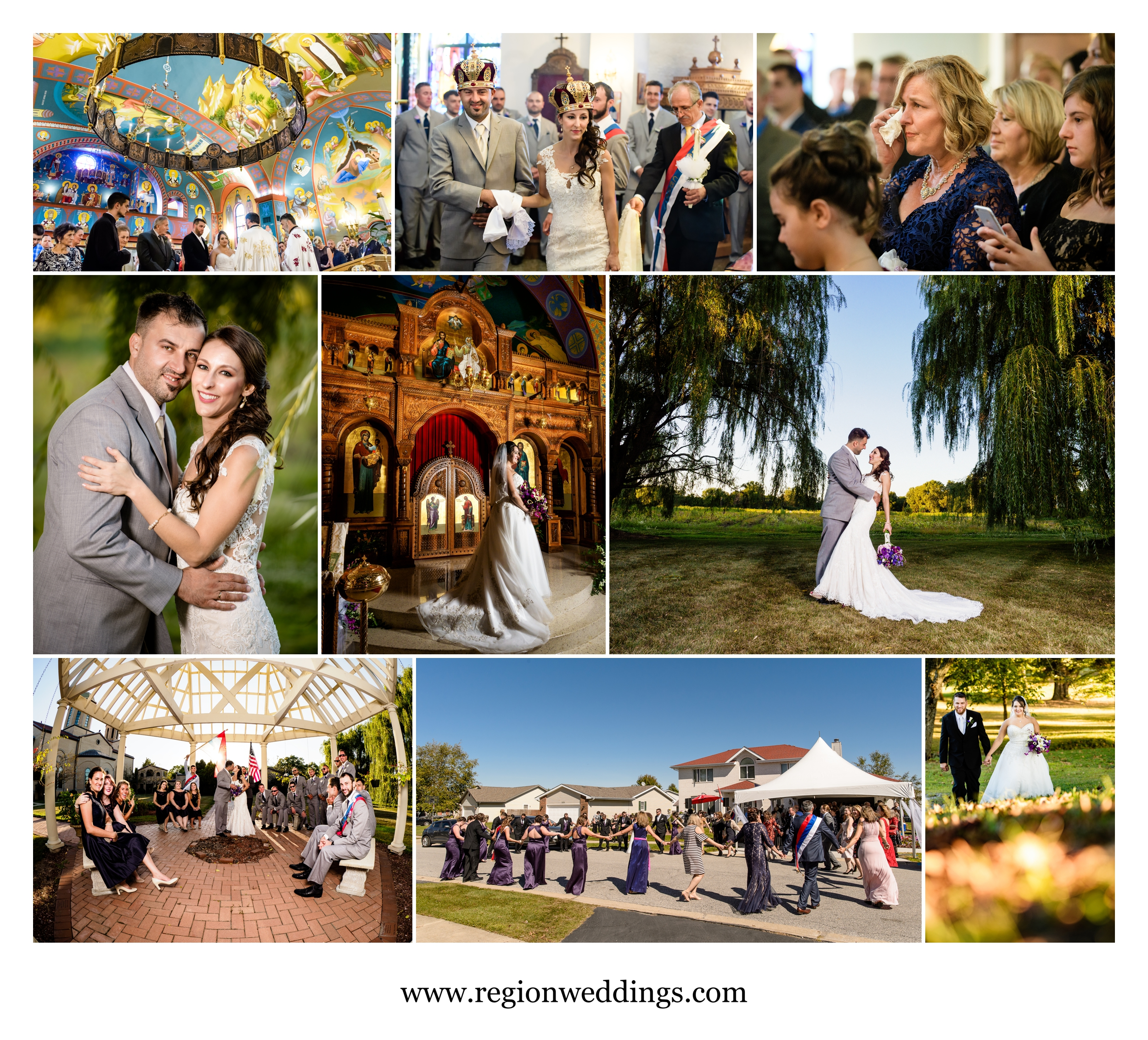 Serbian weddings in Chicago and Schererville, Indiana.