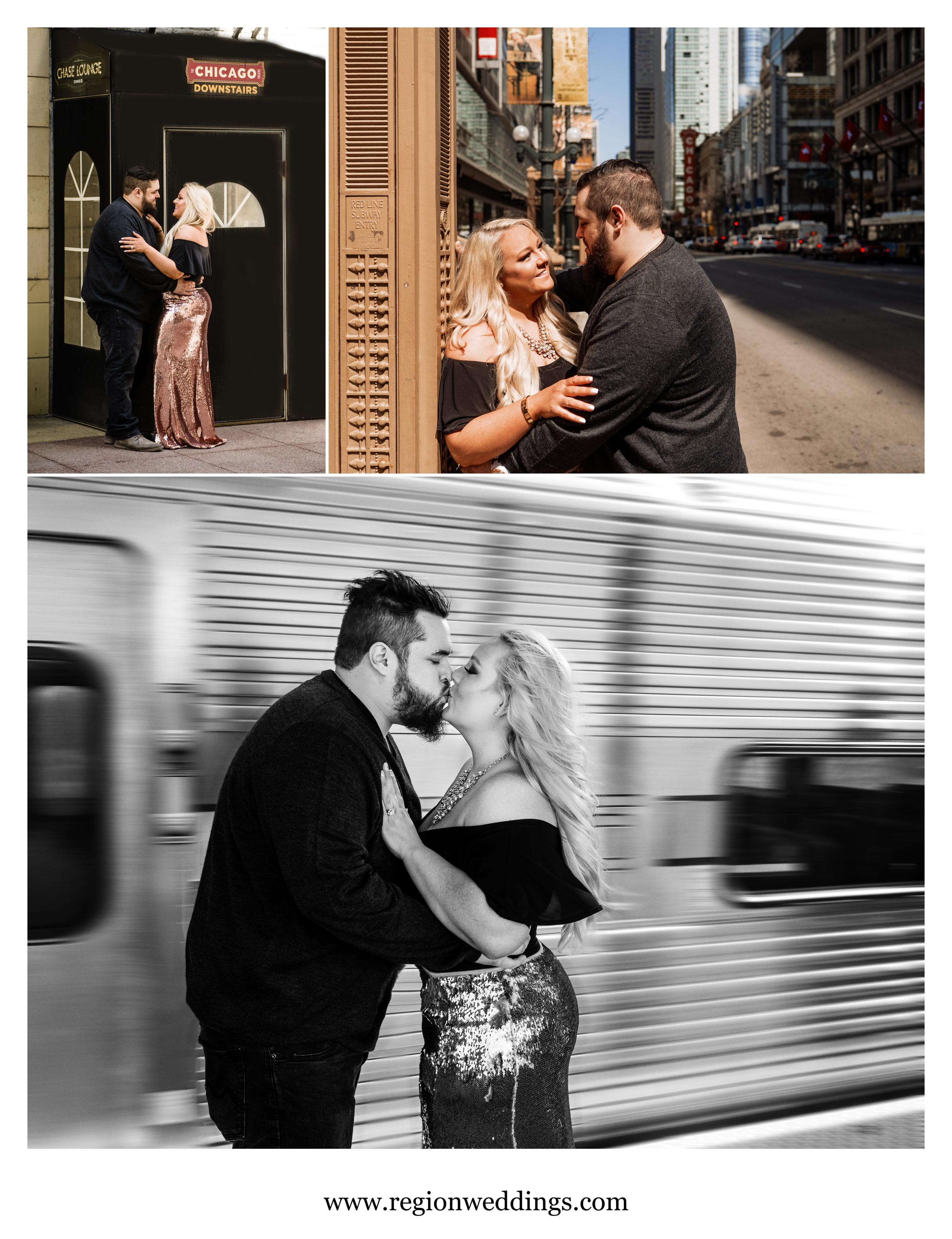 Chicago street engagement photos.