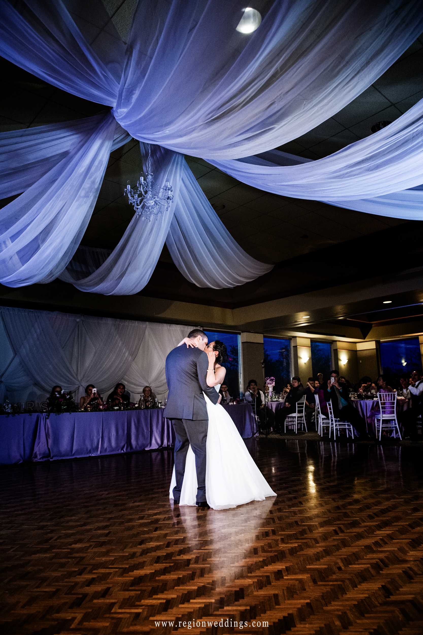 First dance in the reception room at Sand Creek.