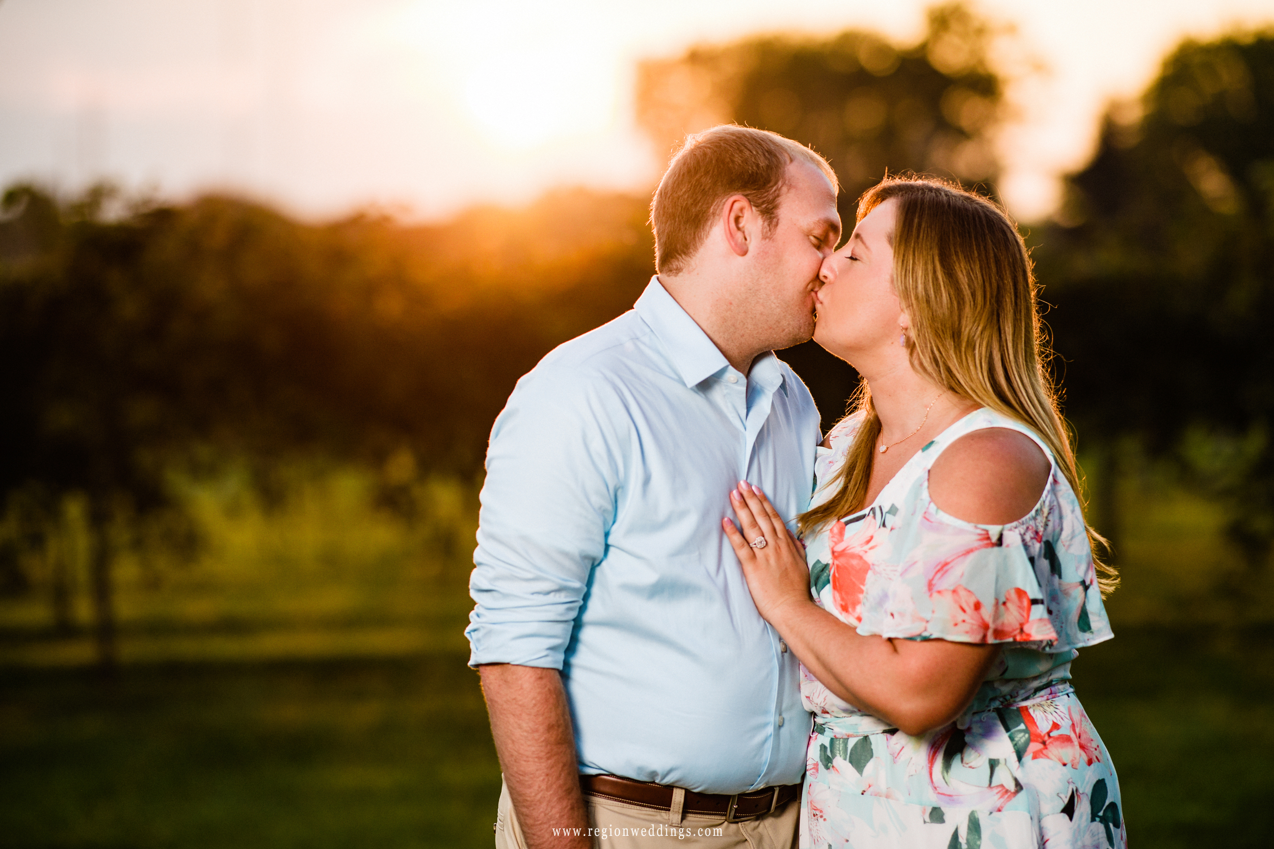 Sunset kiss at Four Corners Winery.