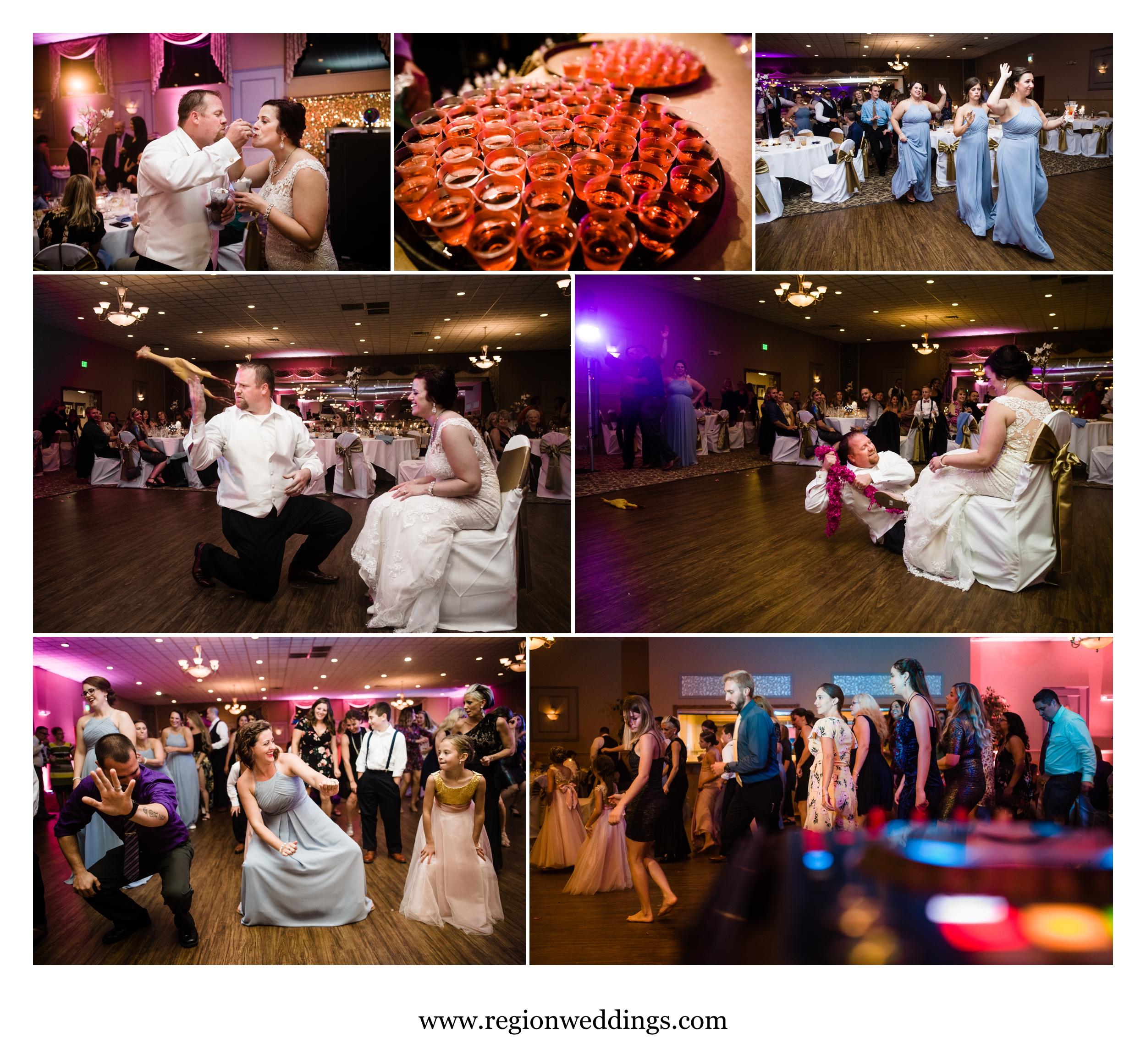 Wedding reception fun at Andorra Banquet Hall.