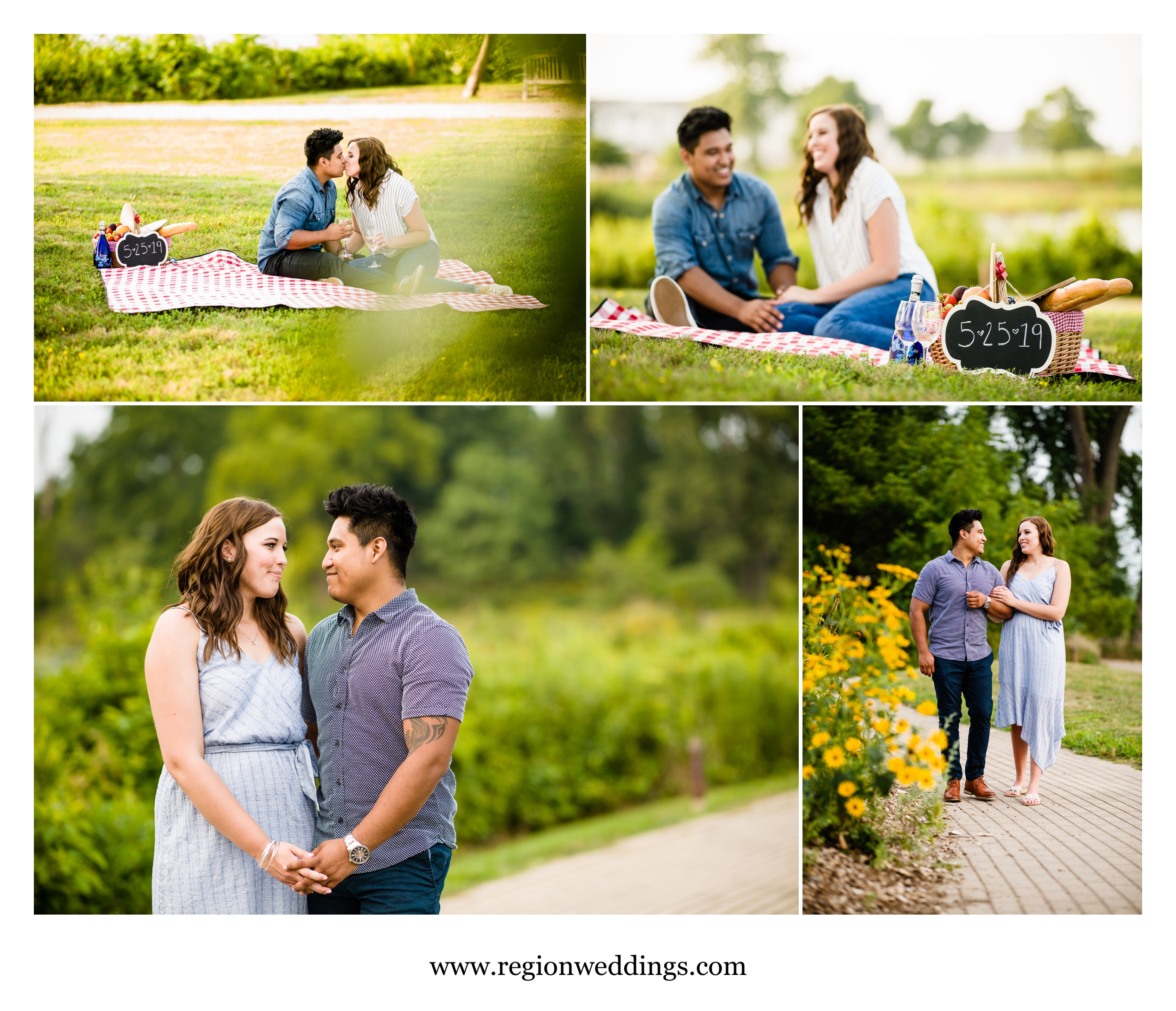 Engagement photos in Chesterton, Indiana.