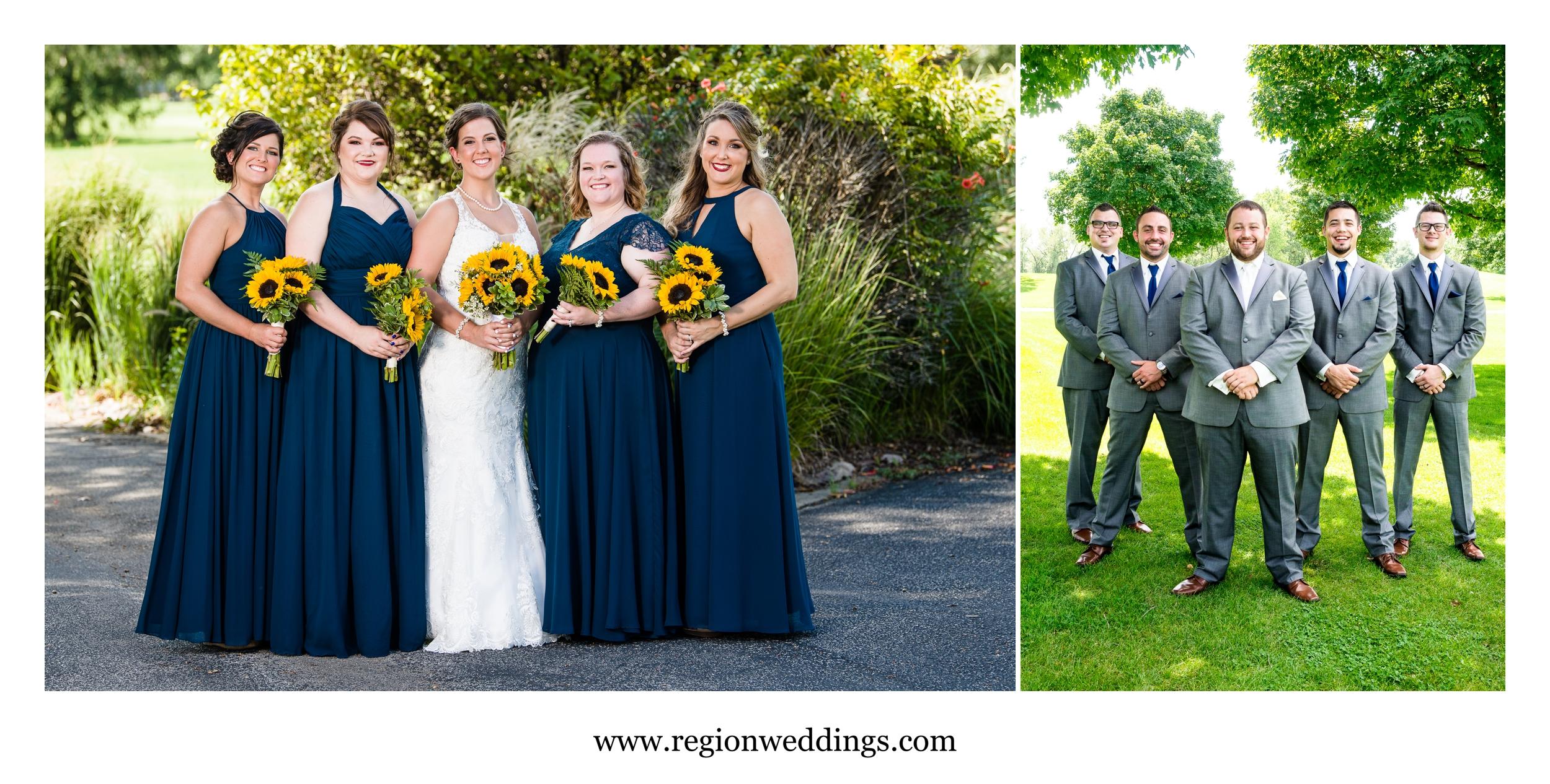Bridesmaids and groomsmen at Briar Ridge.