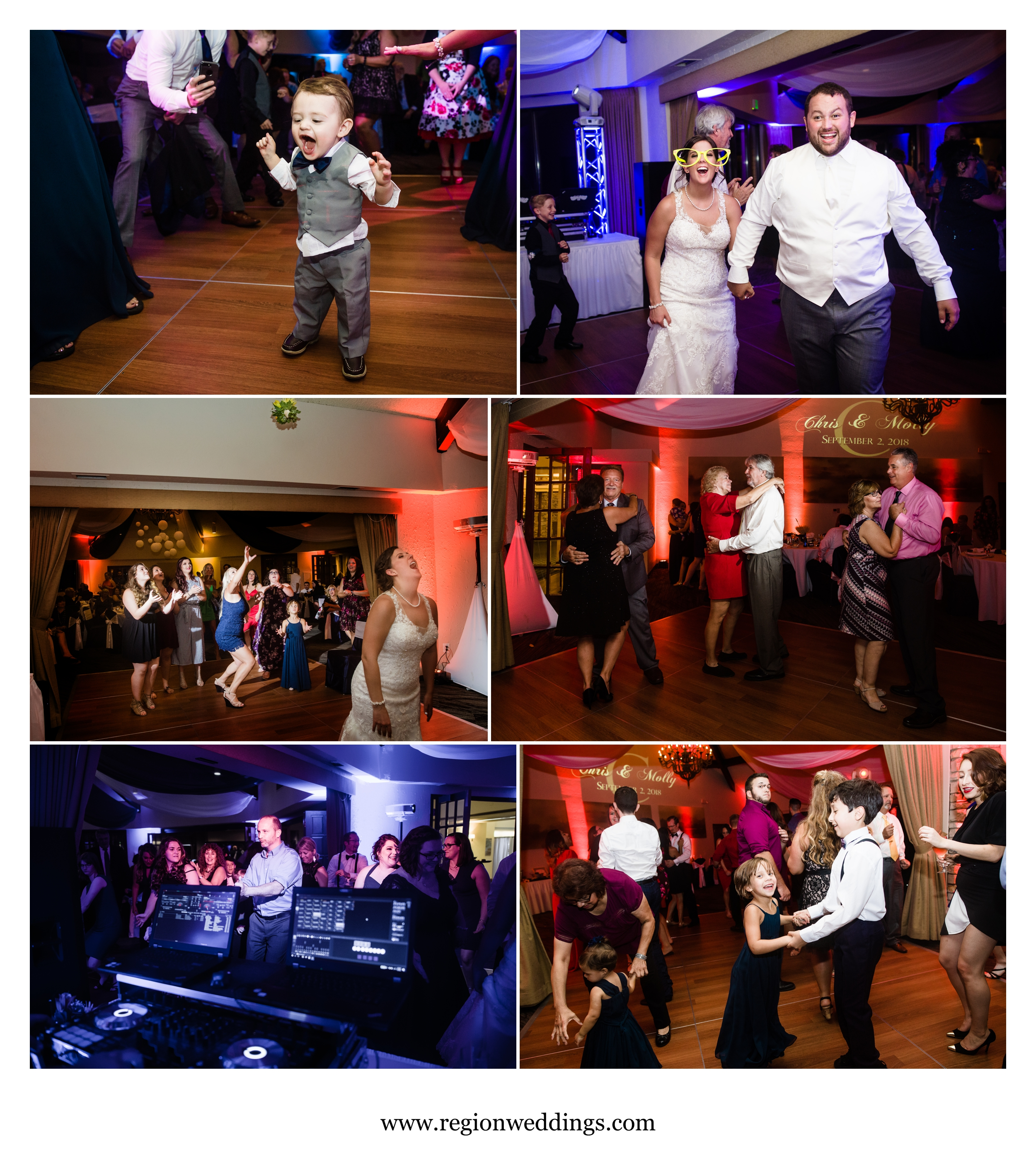Party on the dance floor at Briar Ridge.