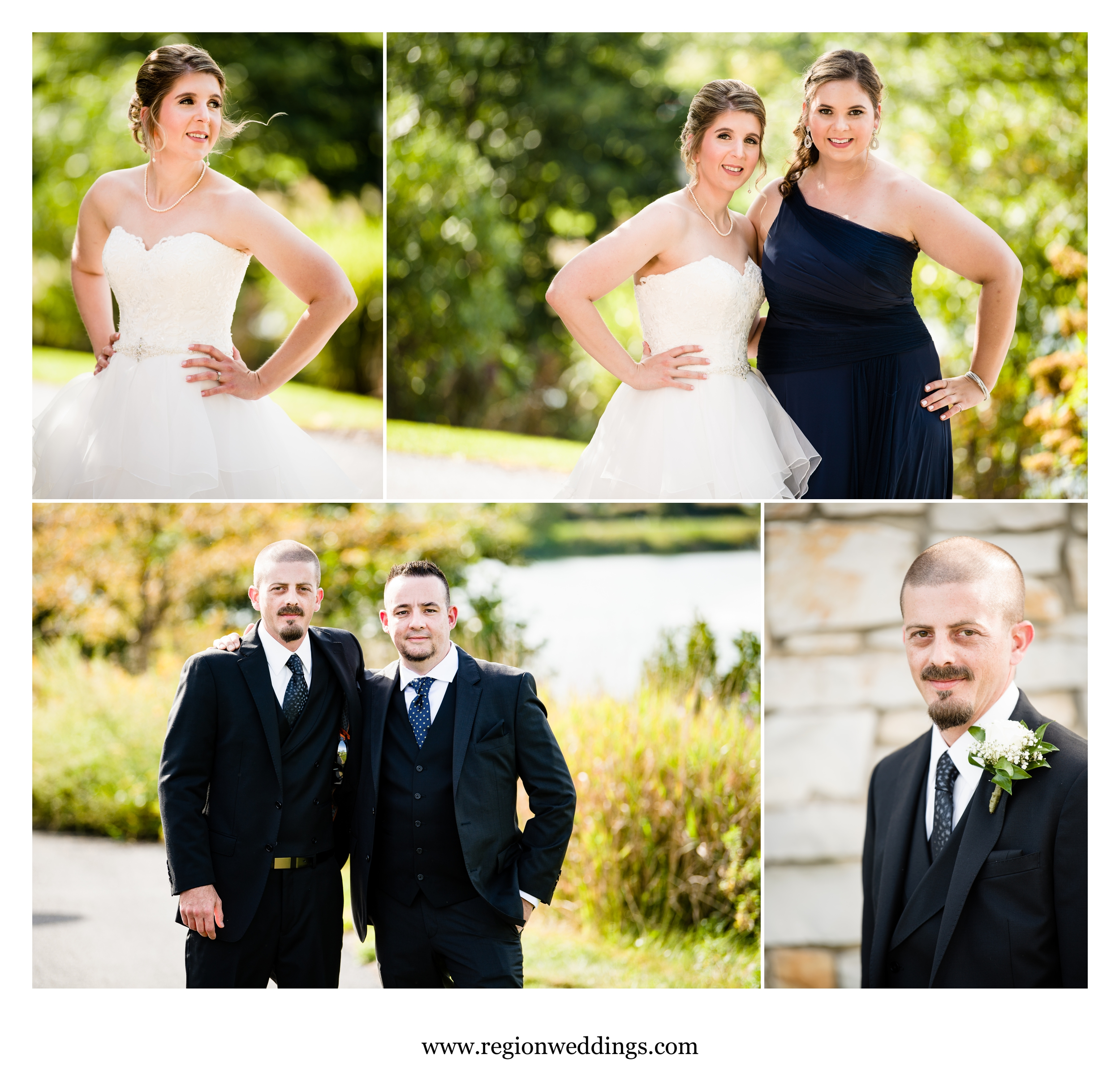 Wedding party portraits.