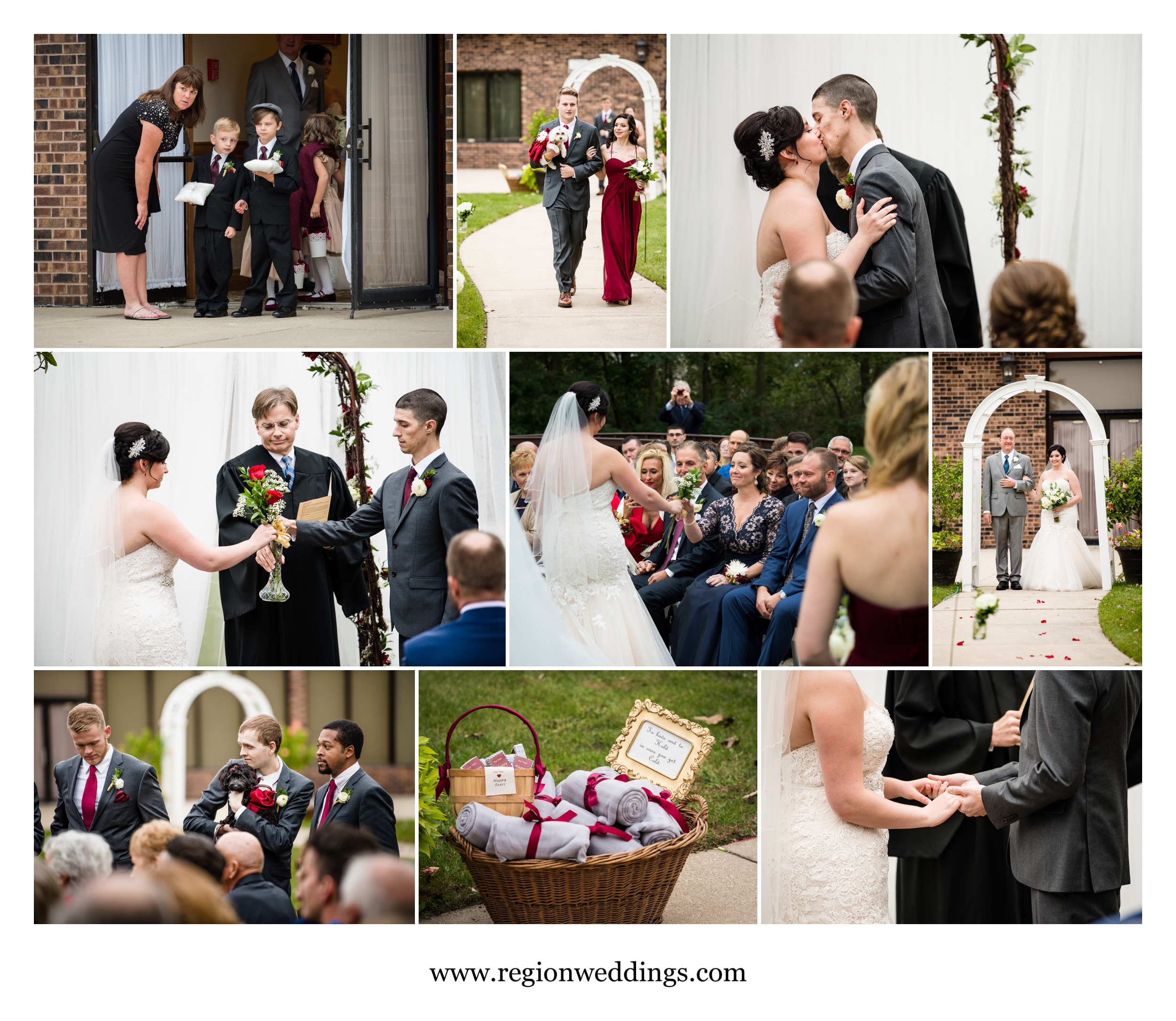 Outdoor wedding ceremony at The Croatian Center.