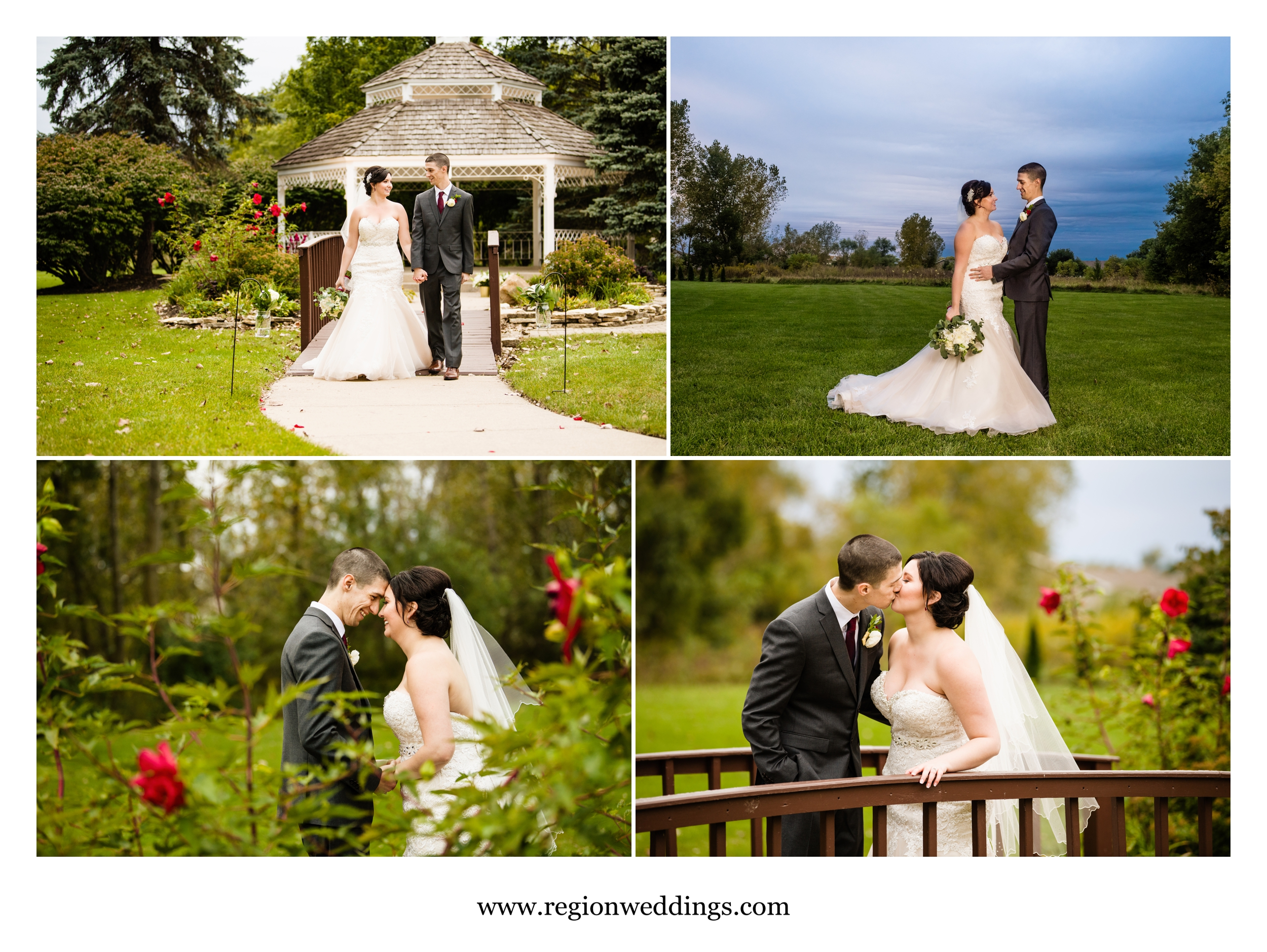 Romantic wedding photos behind The Croatian Center.