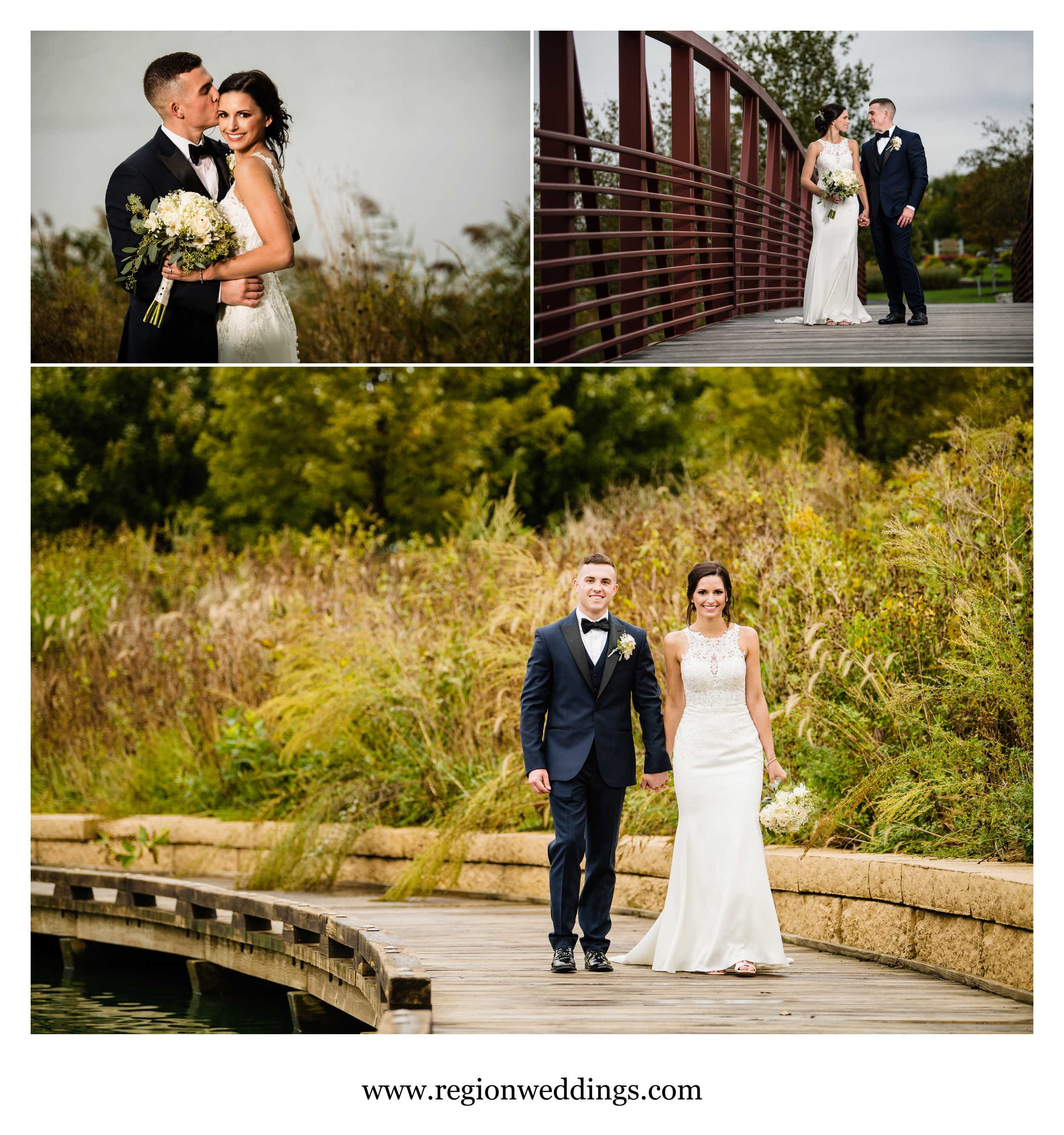 Wedding pictures at Centennial Park.