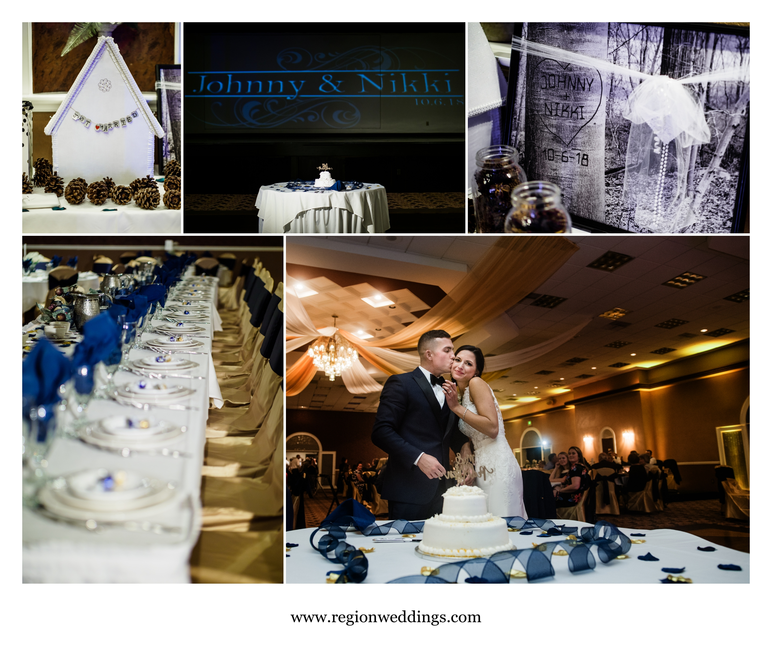 Wedding reception at St. Elijah Event Center.