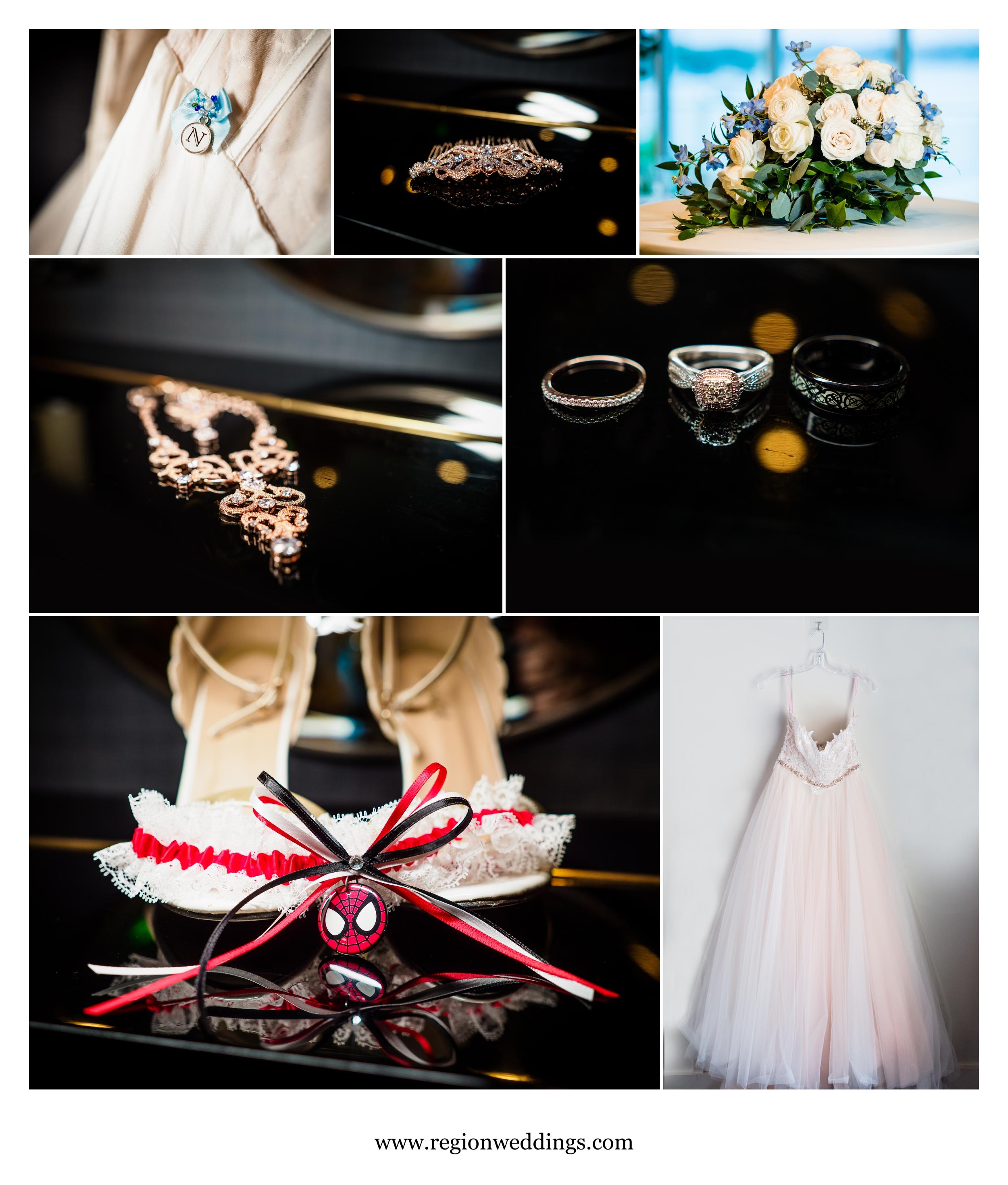 Bridal decor at Lighthouse Restaurant in Cedar Lake, Indiana.