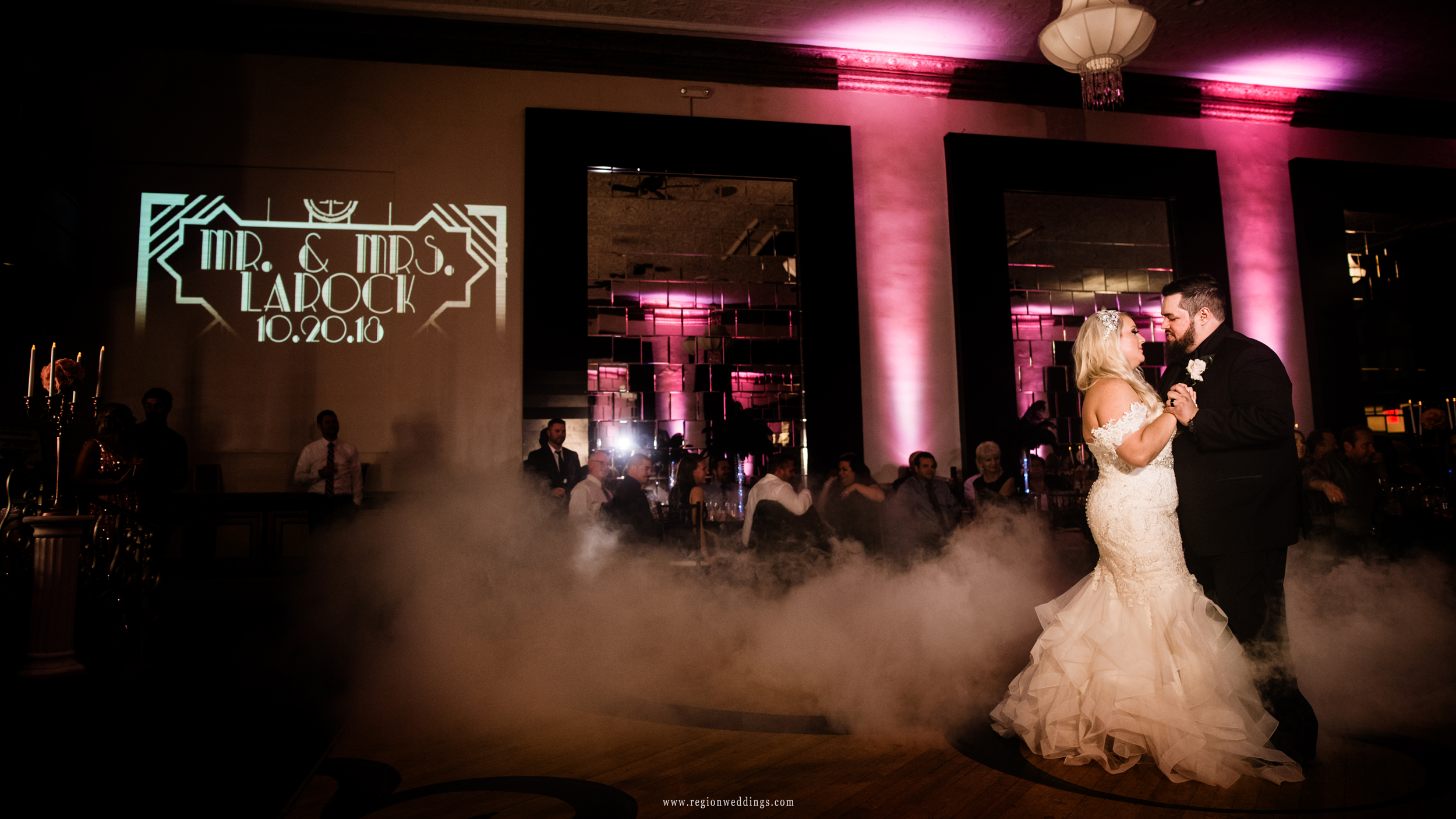 First dance on The Allure ballroom floor.