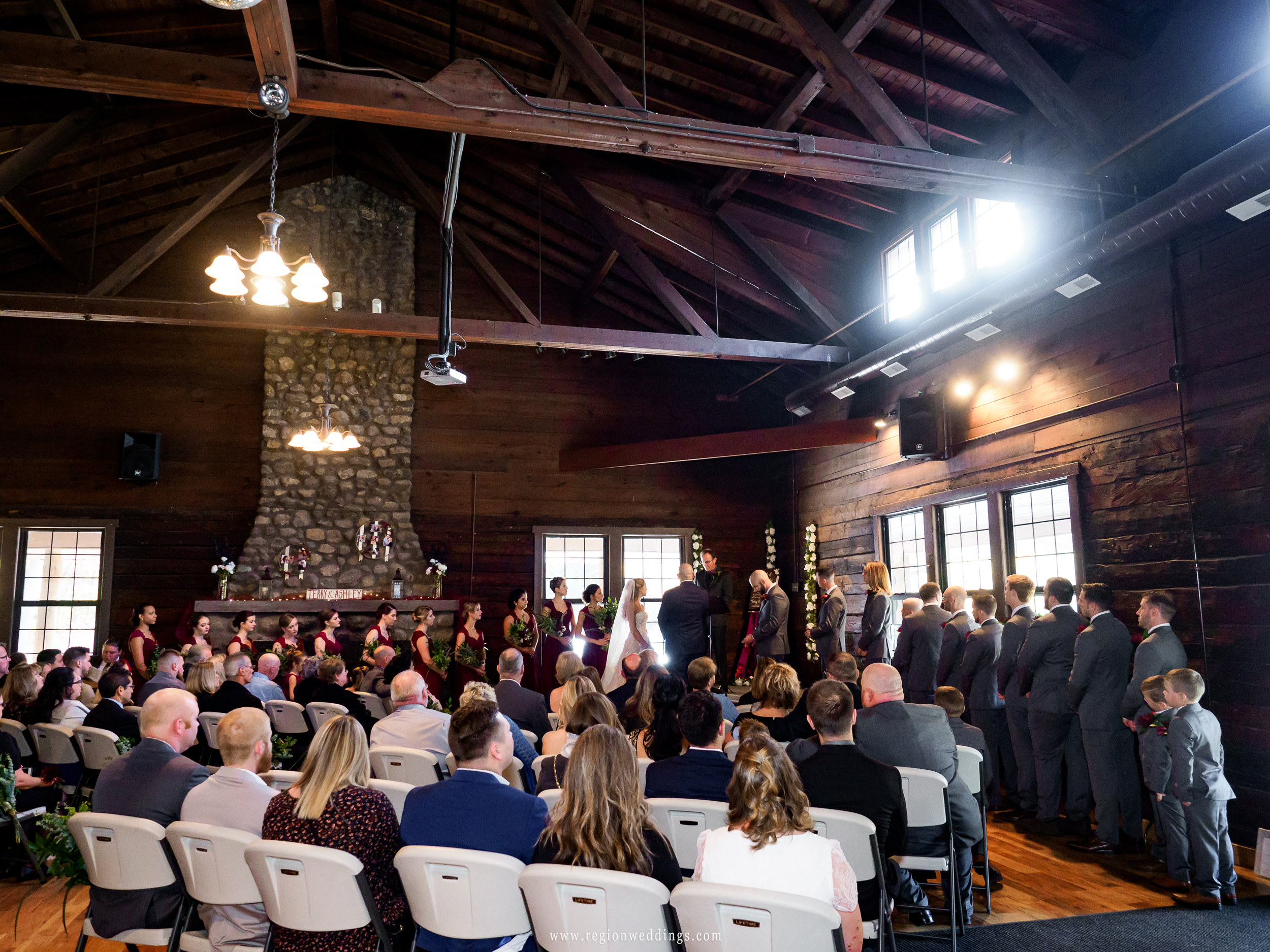 Wedding ceremony at Kreuger Memorial Hall.