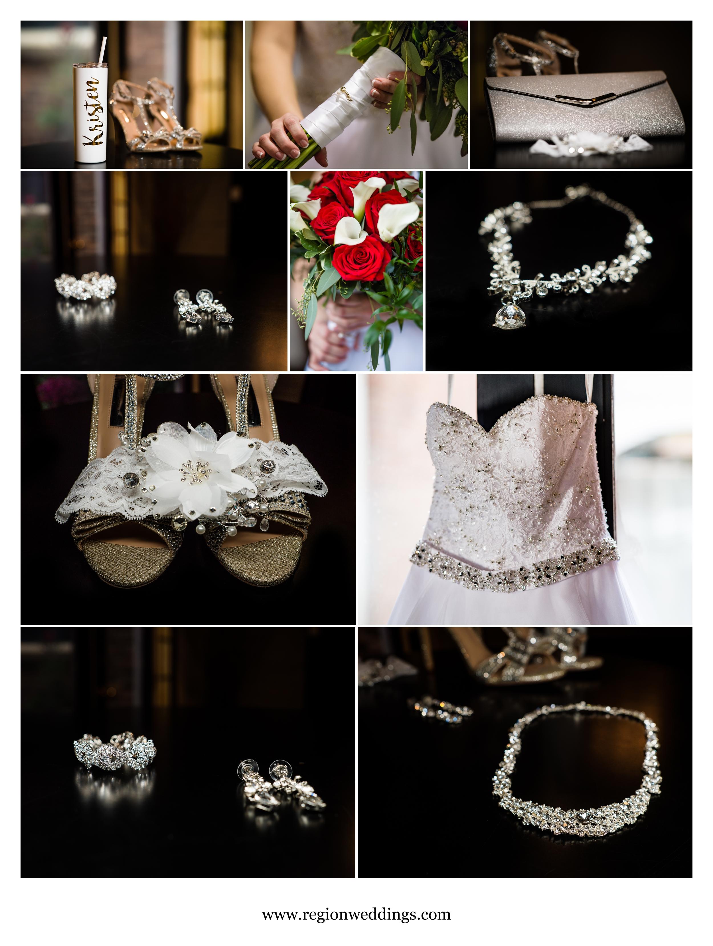 Bridal details at Uptown Center.
