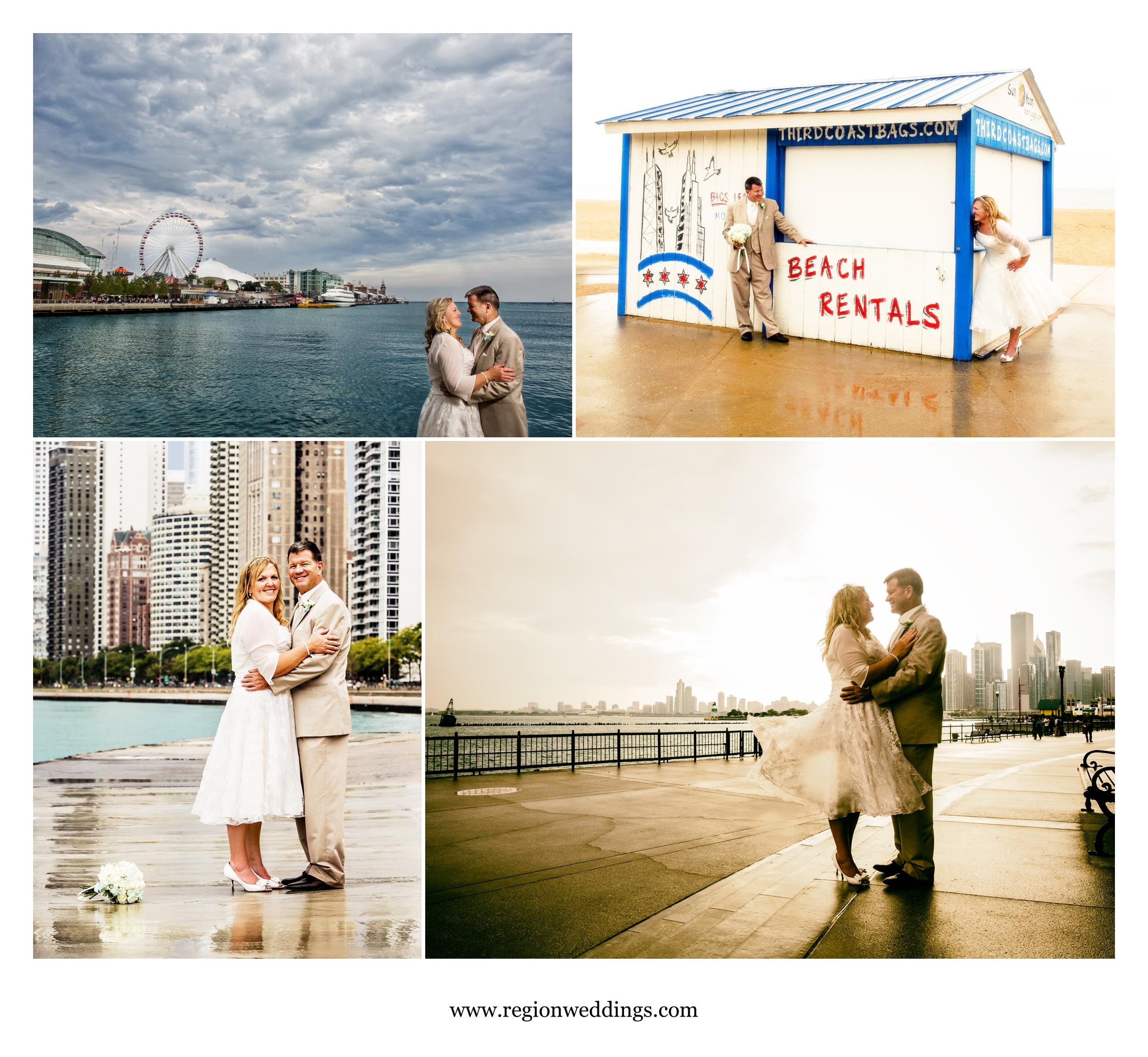 Chicago wedding at Navy Pier.