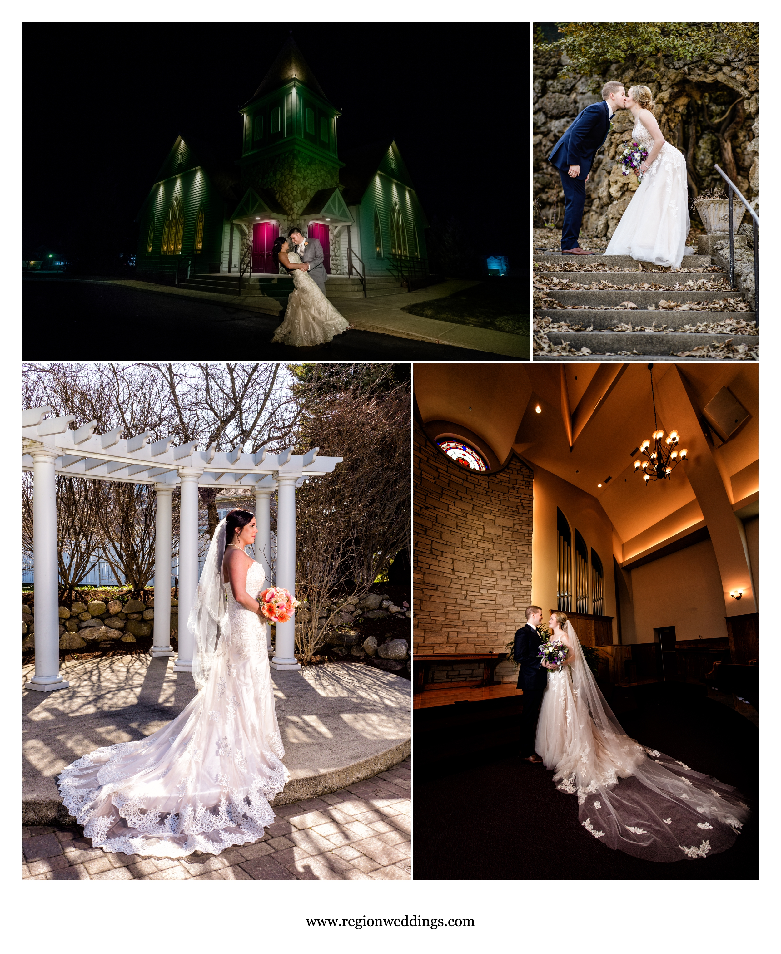 Late winter 2018 weddings in Valparaiso, Indiana and Grant Park, Illinois.