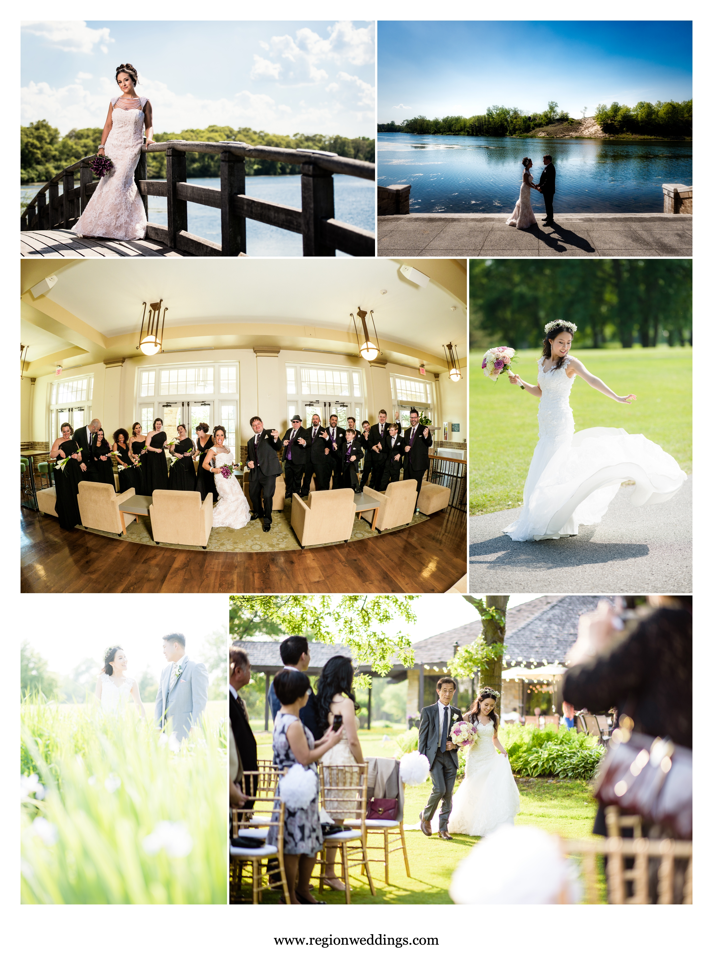 Late Spring weddings at Marquette Park Pavilion and Briar Ridge Country Club.