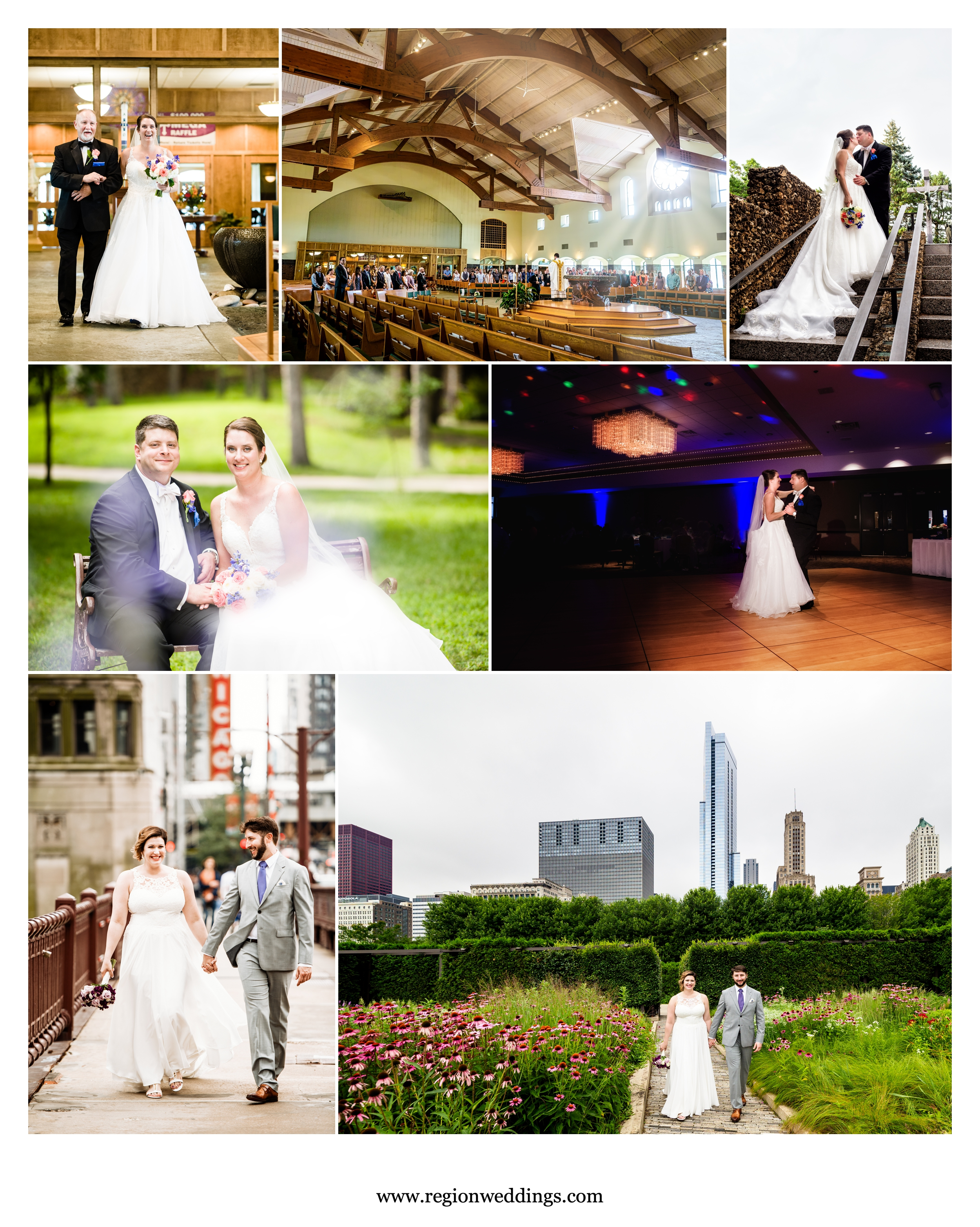 July weddings in Chicago and Schererville, Indiana.