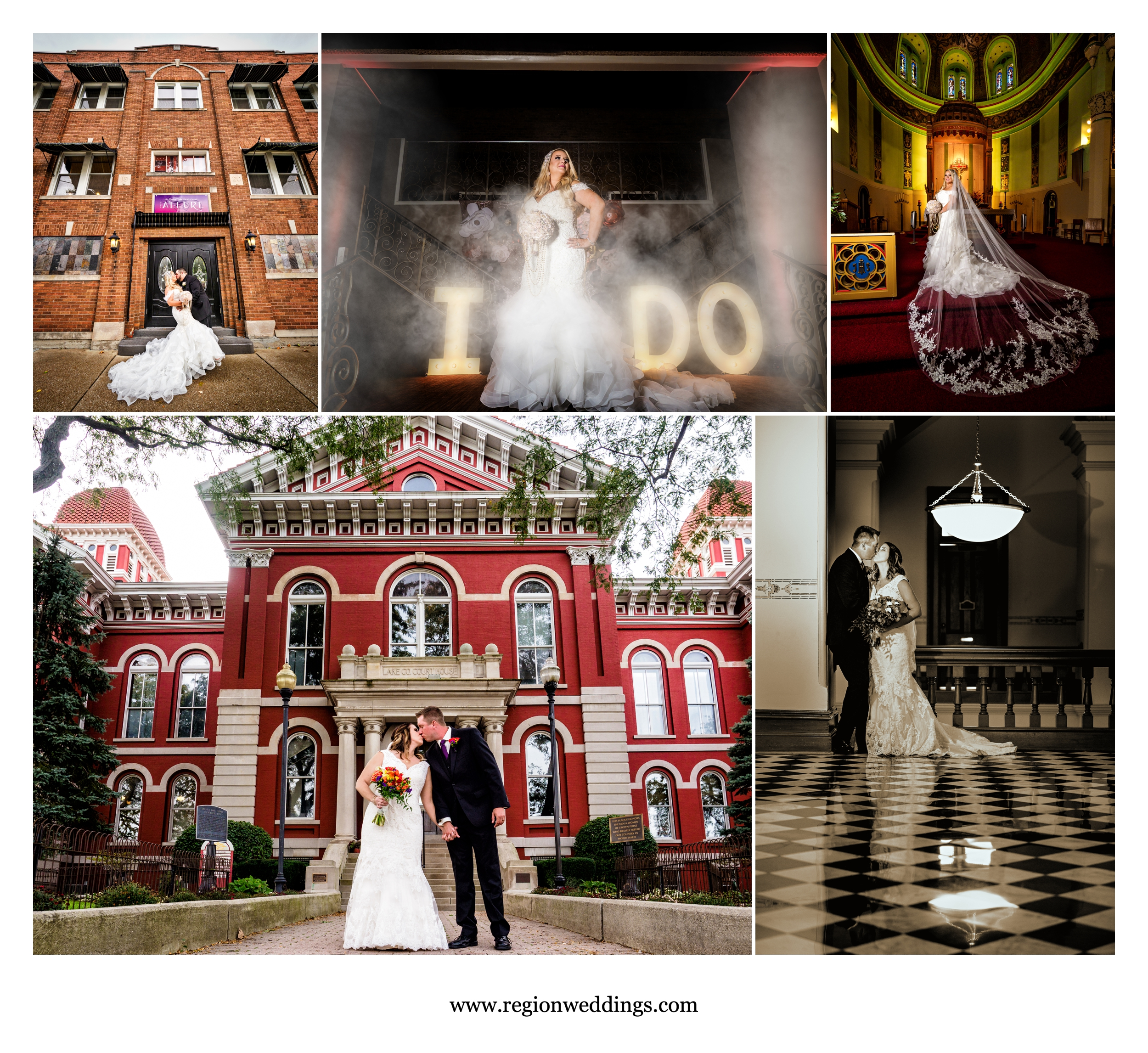 More October weddings at The Allure and in downtown Crown Point.