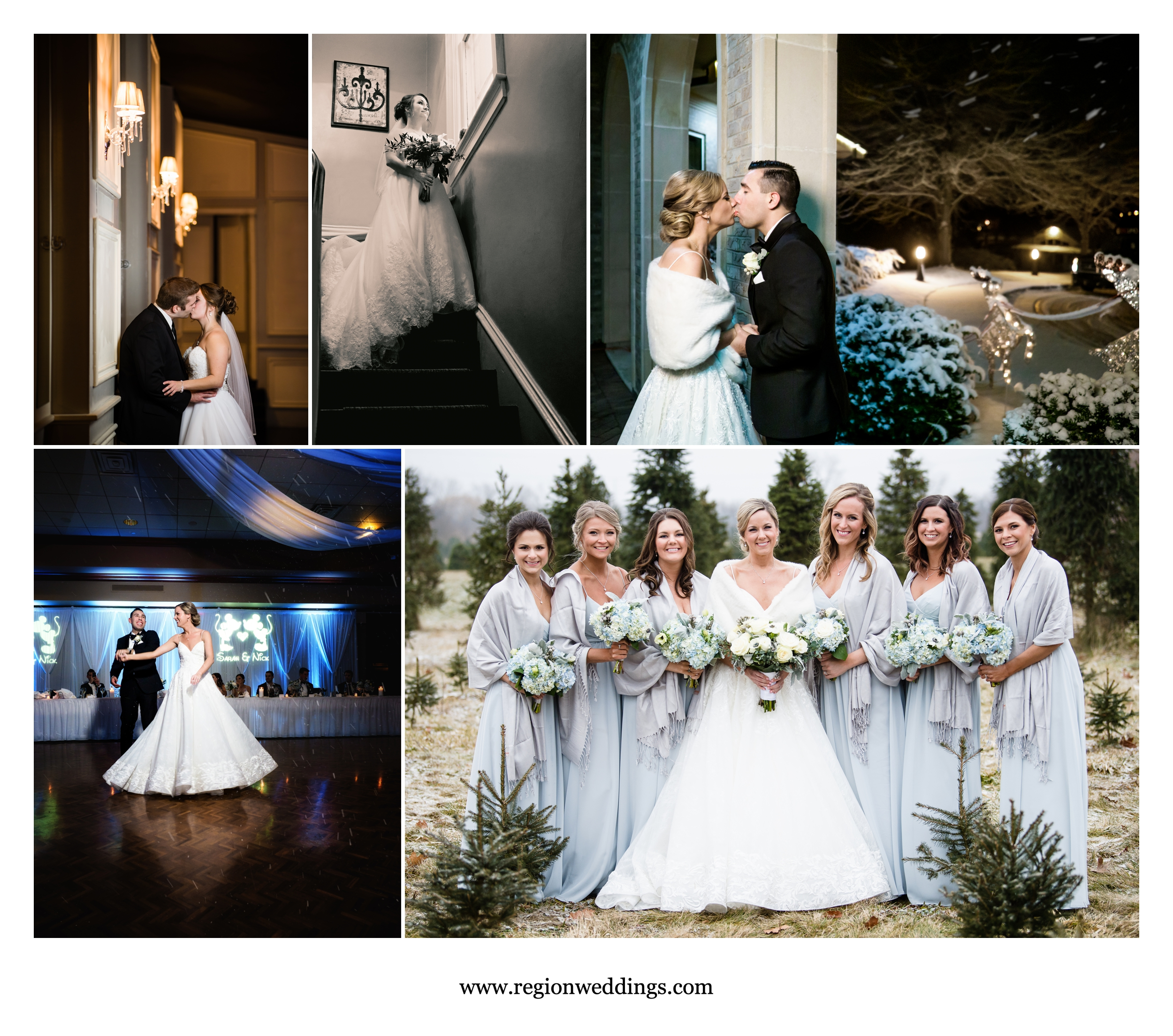 Winter weddings at Uptown Center and Sand Creek Country Club.