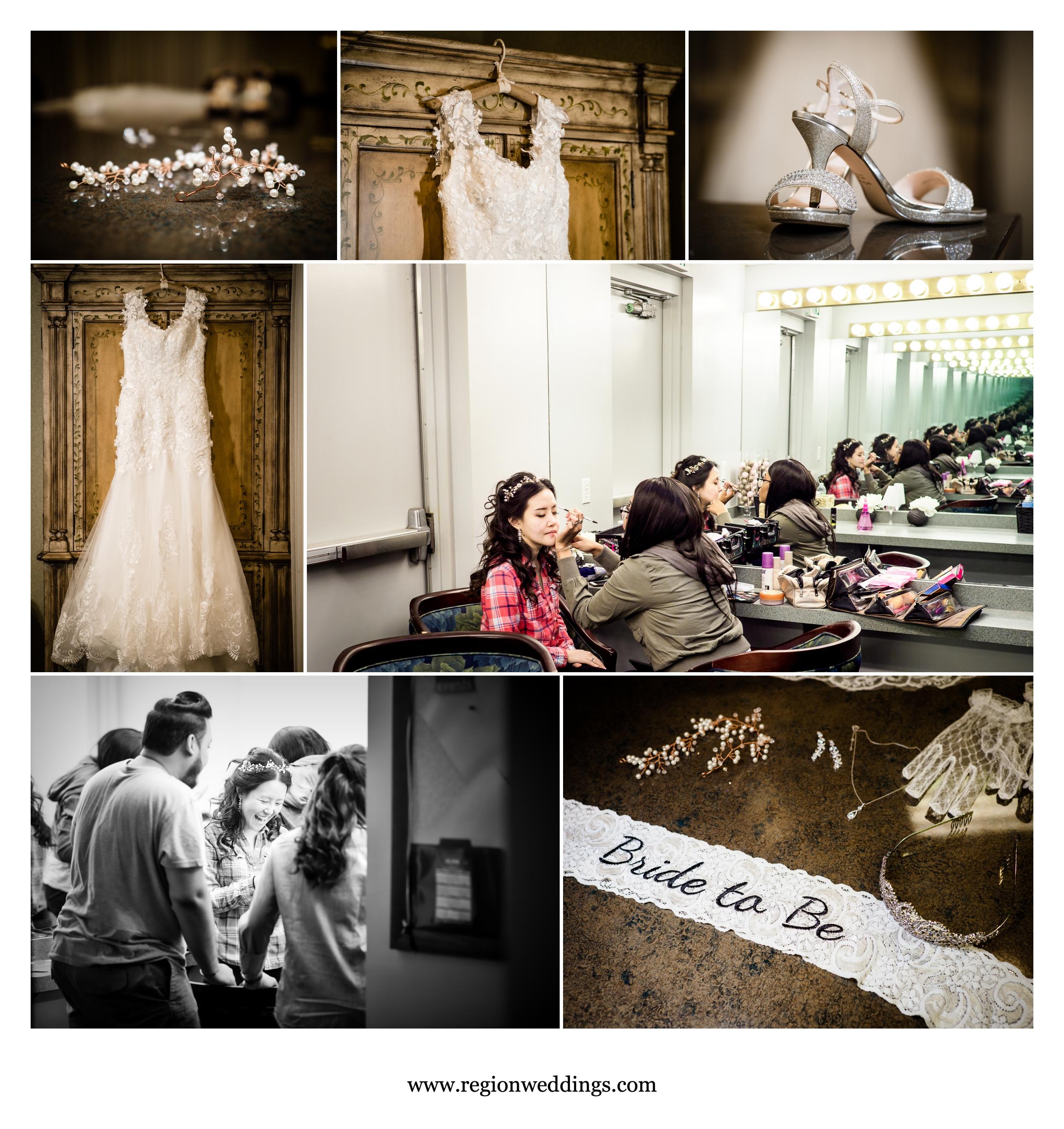 Bridal prep for a summer wedding at Briar Ridge.