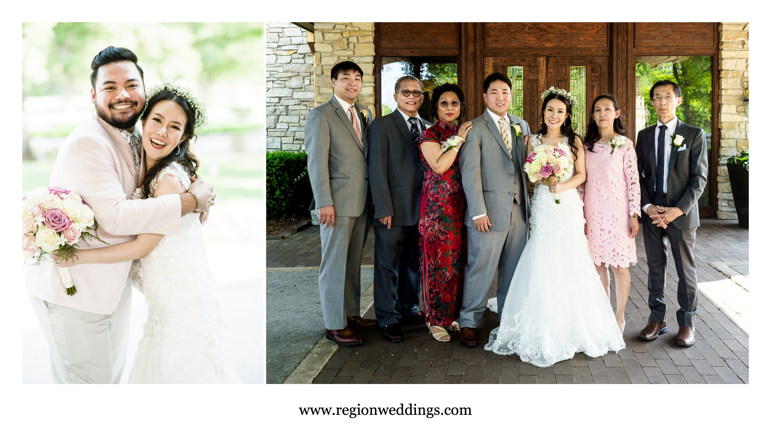 Family pictures at Briar Ridge Country Club.