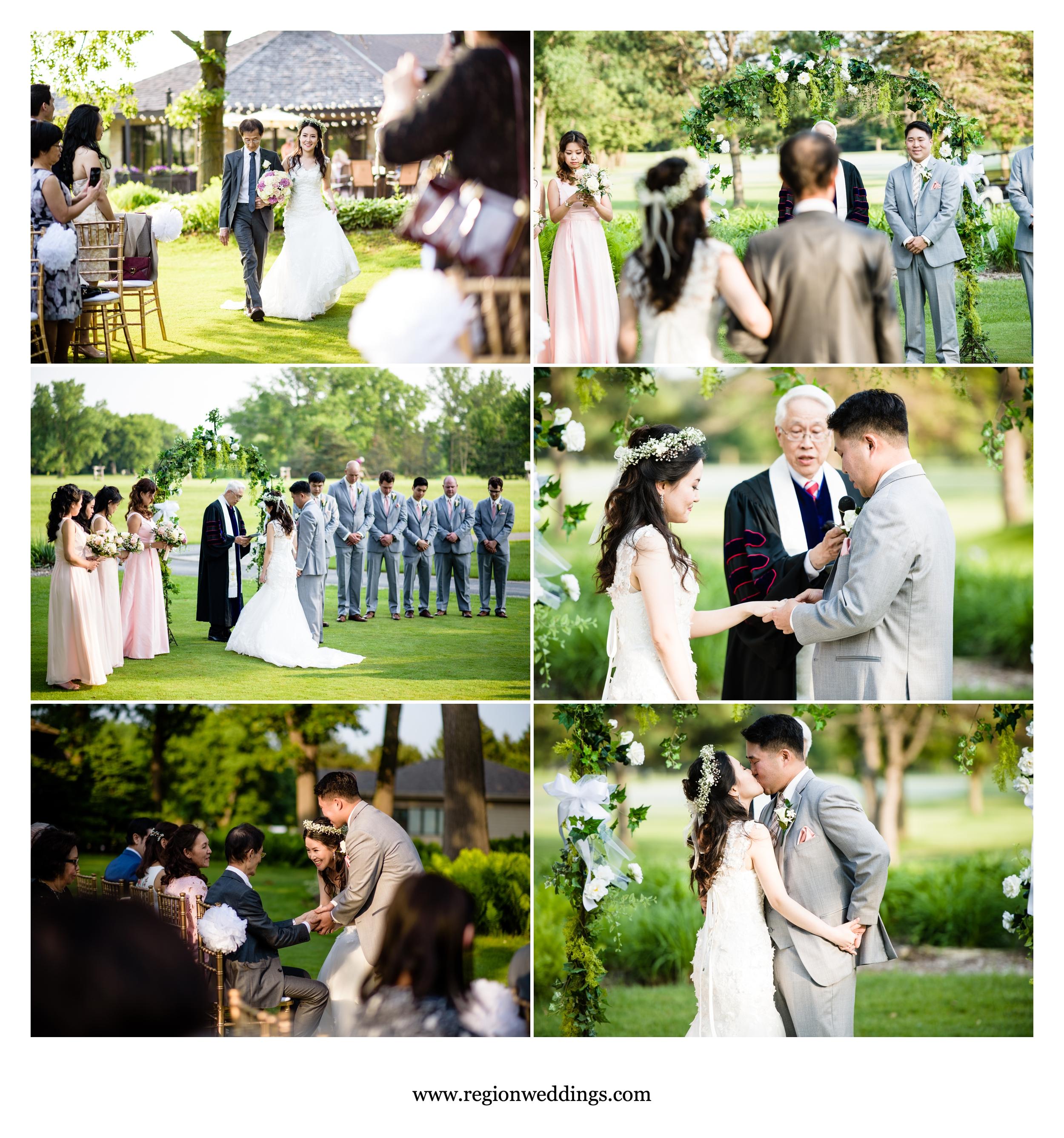 Golf course wedding ceremony at Briar Ridge.