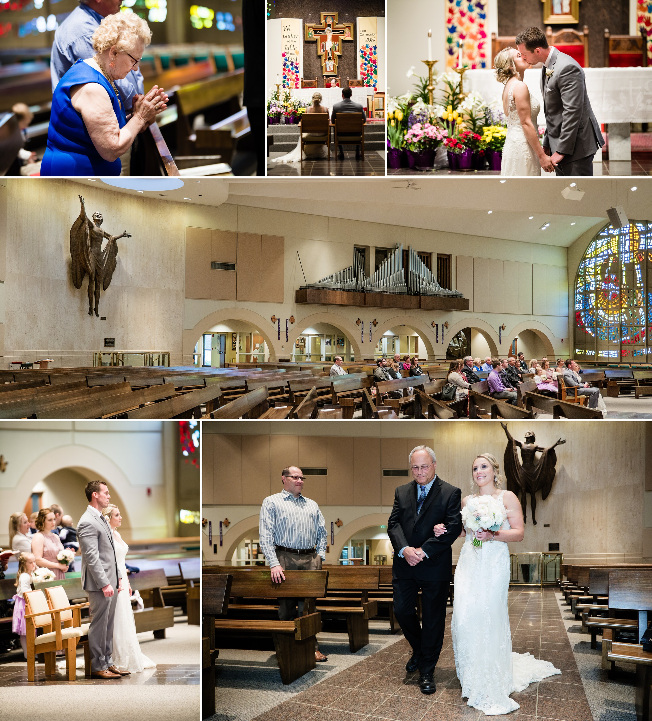 Wedding ceremony at Saint Paul Catholic Church.