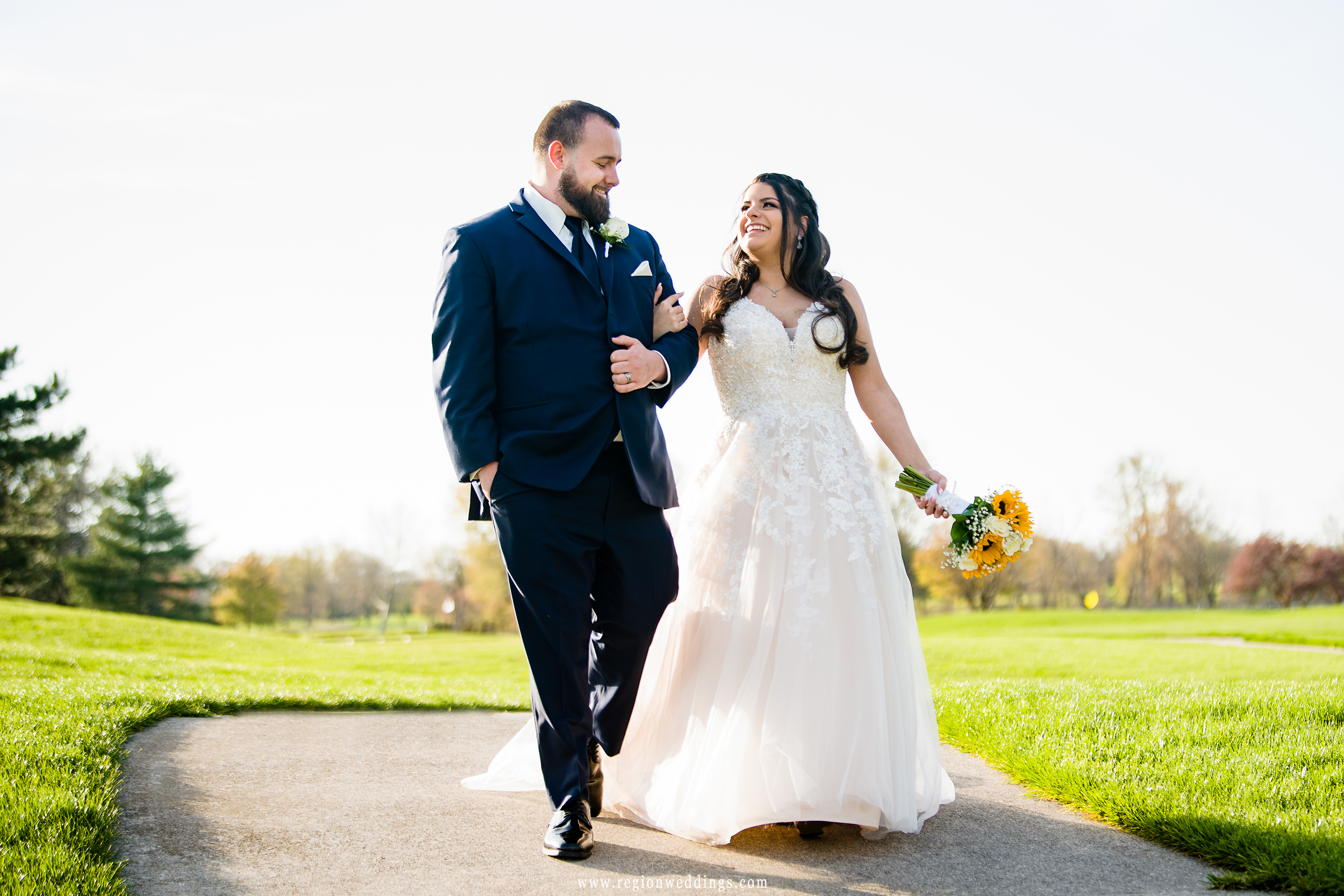 A romantic walk on the golf course at Sand Creek Country Club