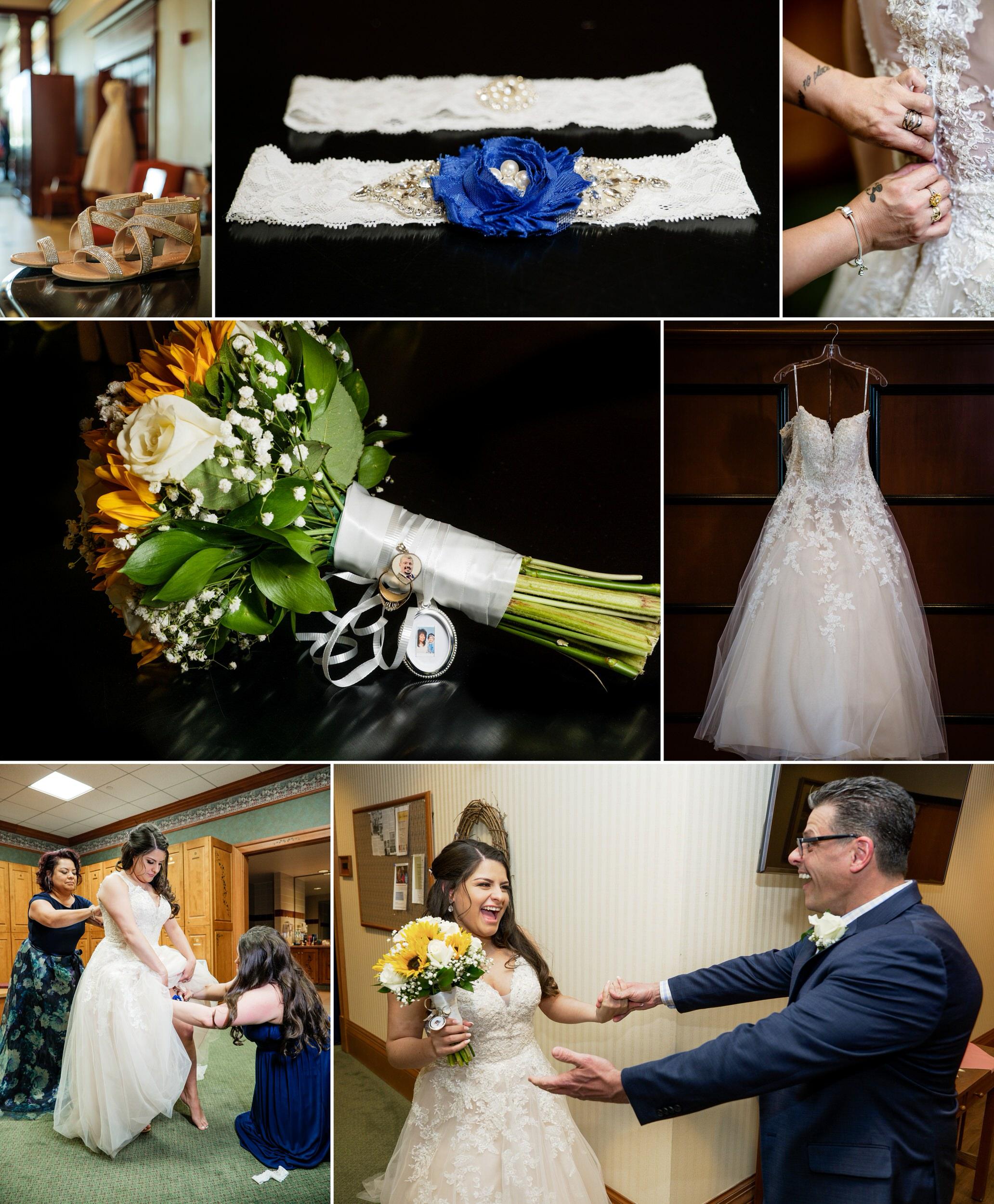 Bridal prep at a Spring wedding at Sand Creek Country Club.