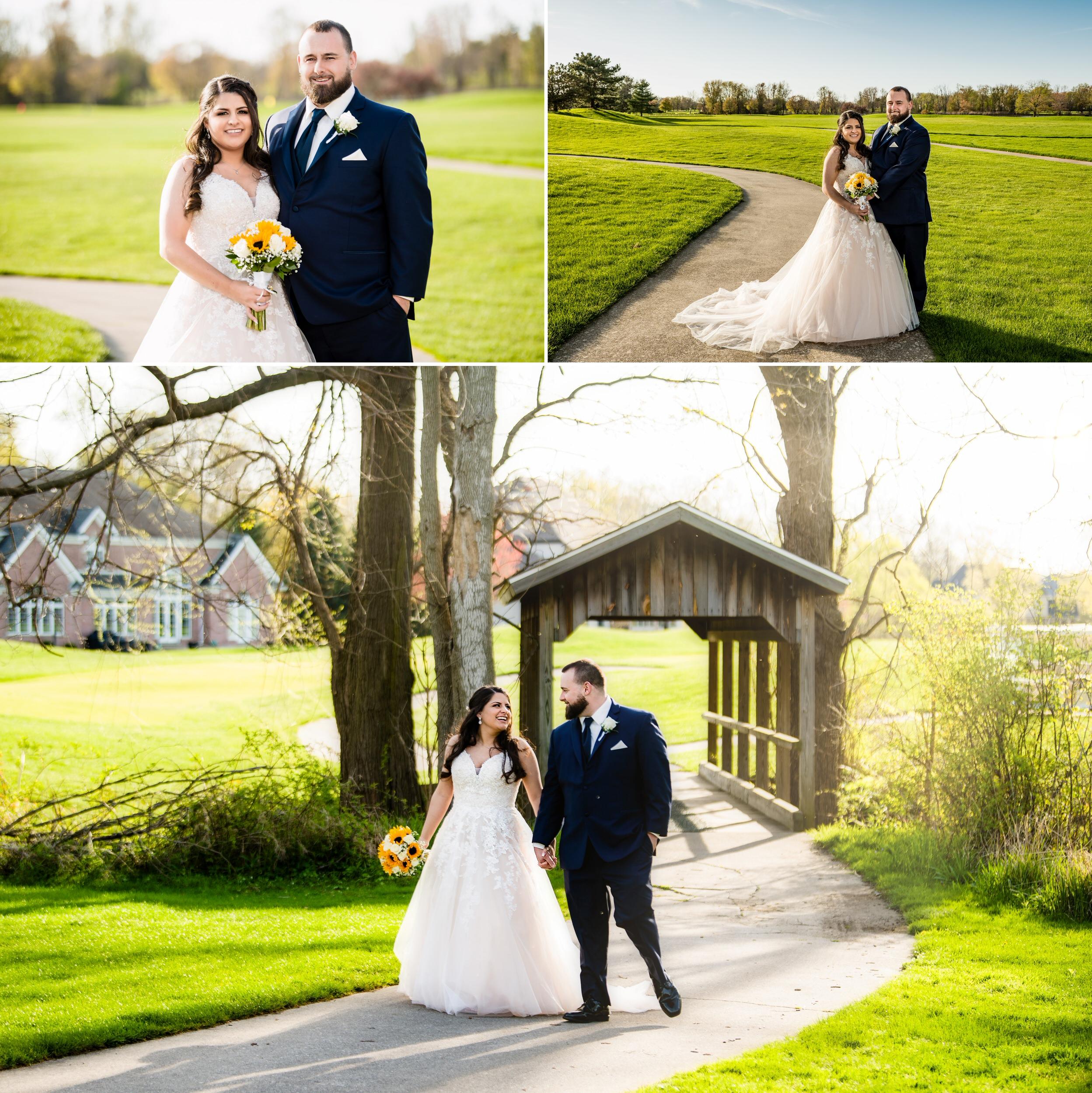 Wedding photos on the golf course at Sand Creek.